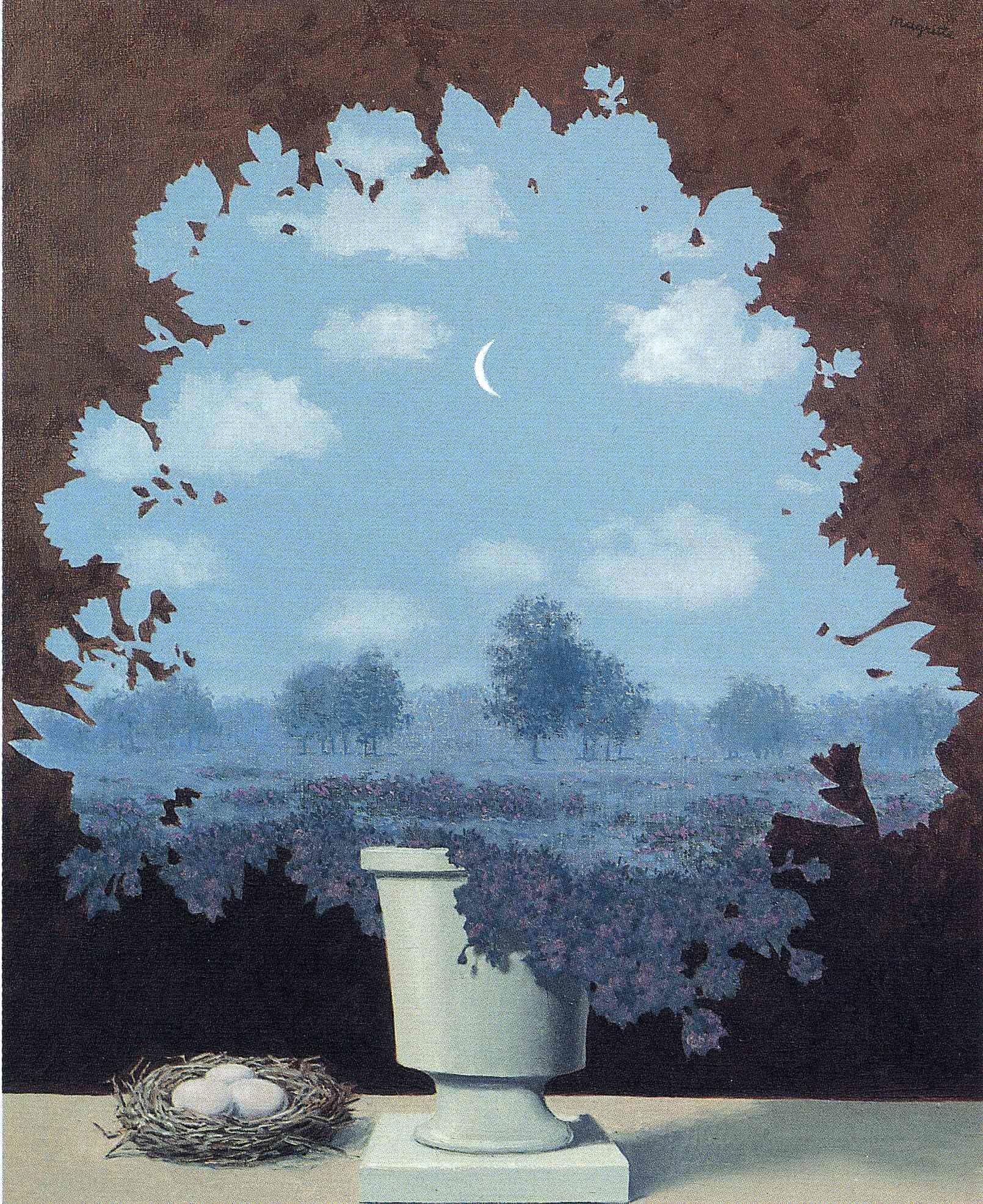 A volte vorrei vivere in un quadro di Magritte