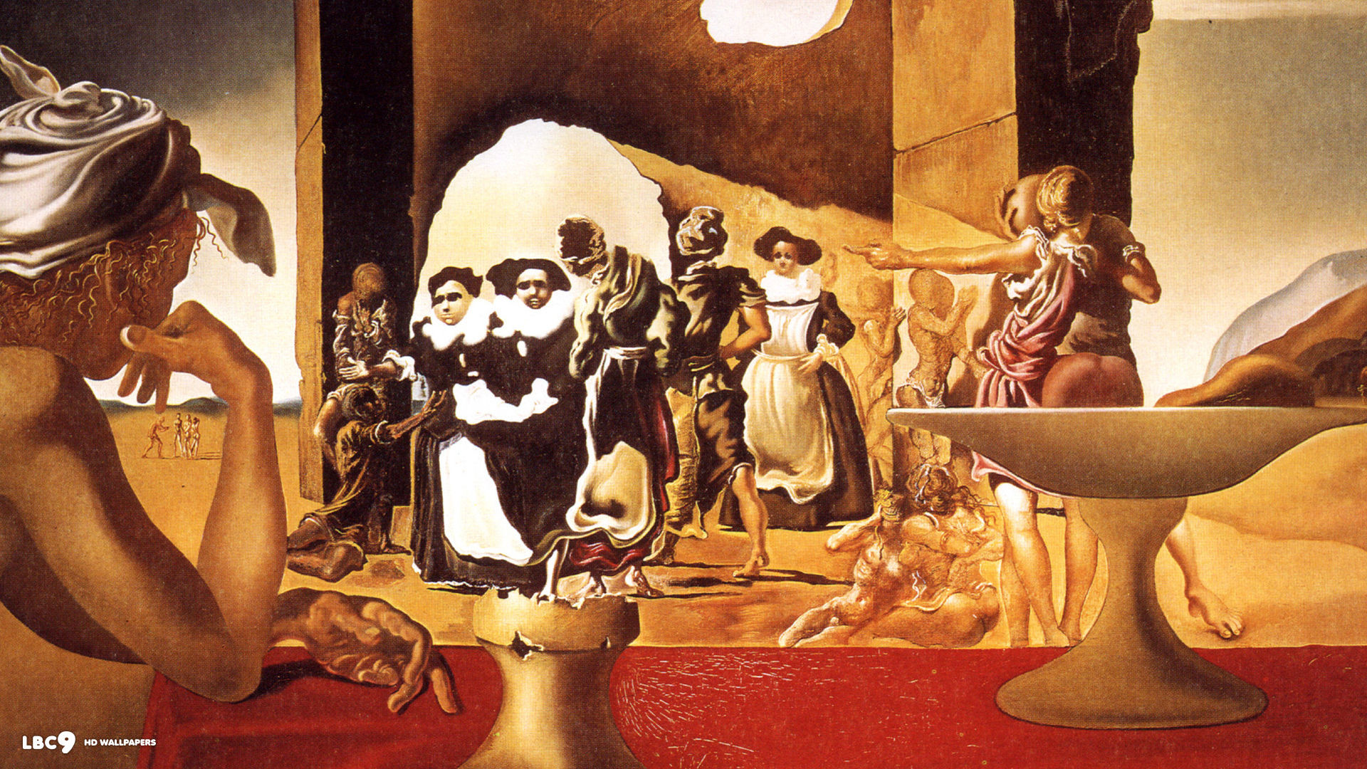 slave market with the disappearing bust of voltaire