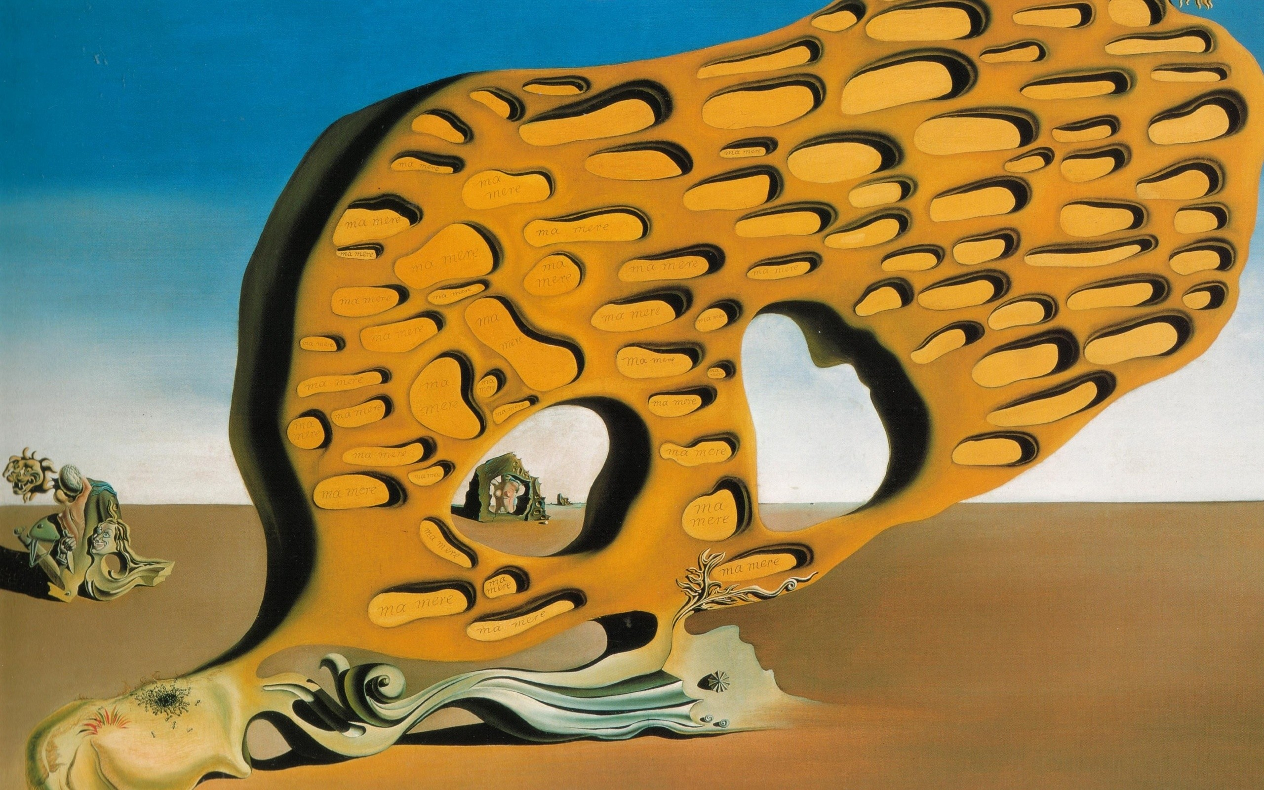 Arts, Salvador Dali, Paintings, The Mystery Of Desire Salvador Dali Painting