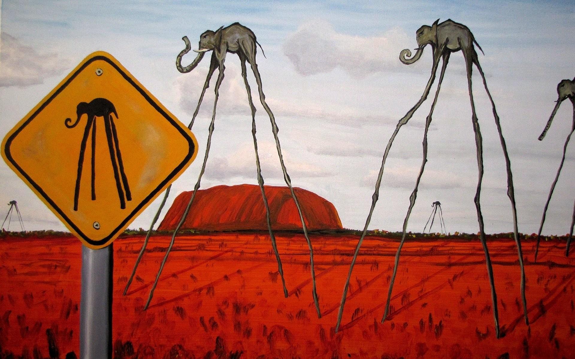 salvador dali pattern picture elephants