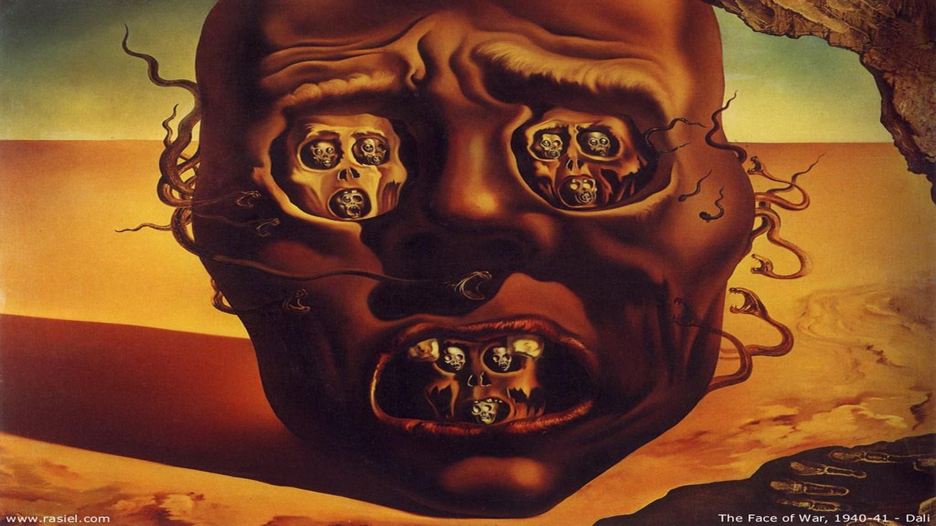 Face Of War Salvador Dali …