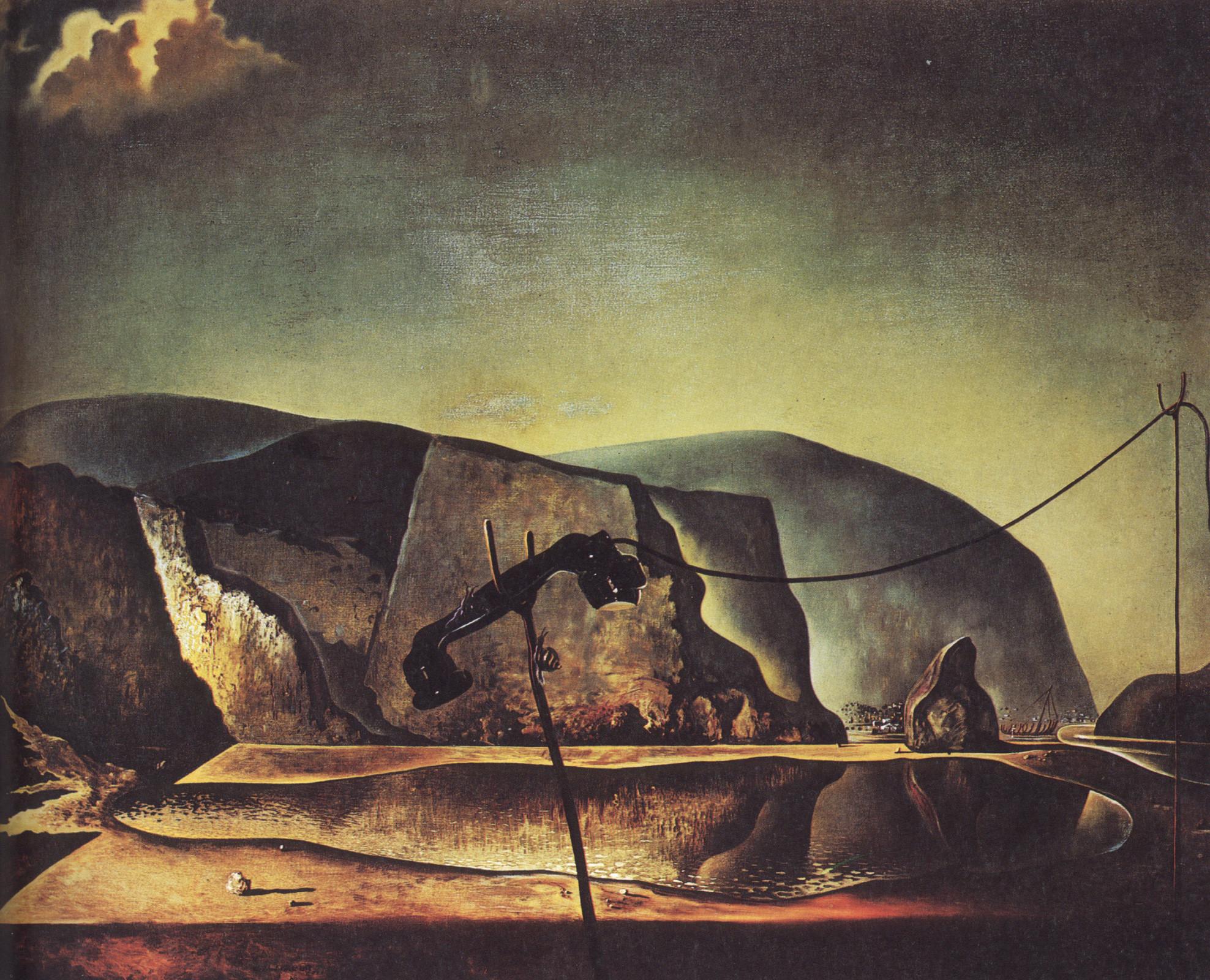 Mountain Lake, 1938 by Salvador Dali.