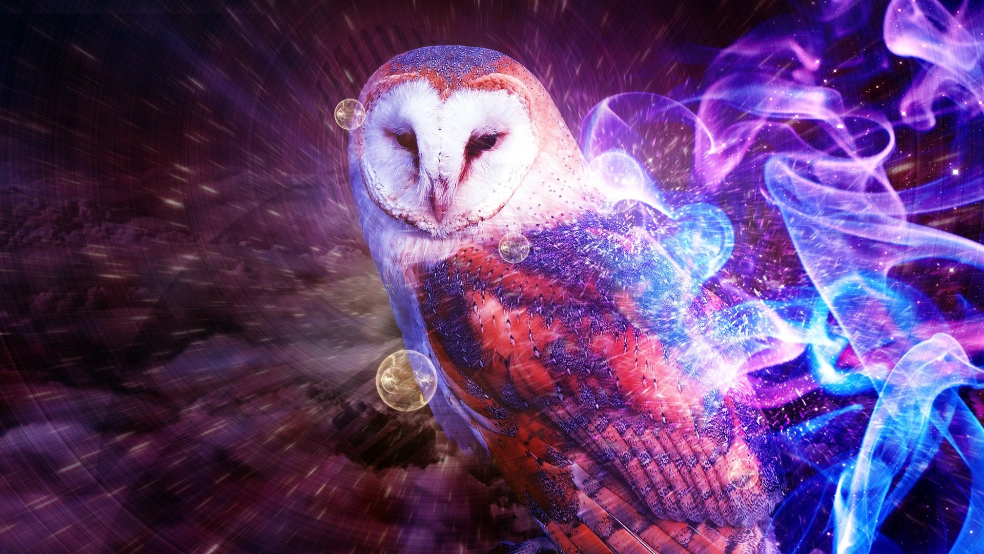 Some trippy owl thing.