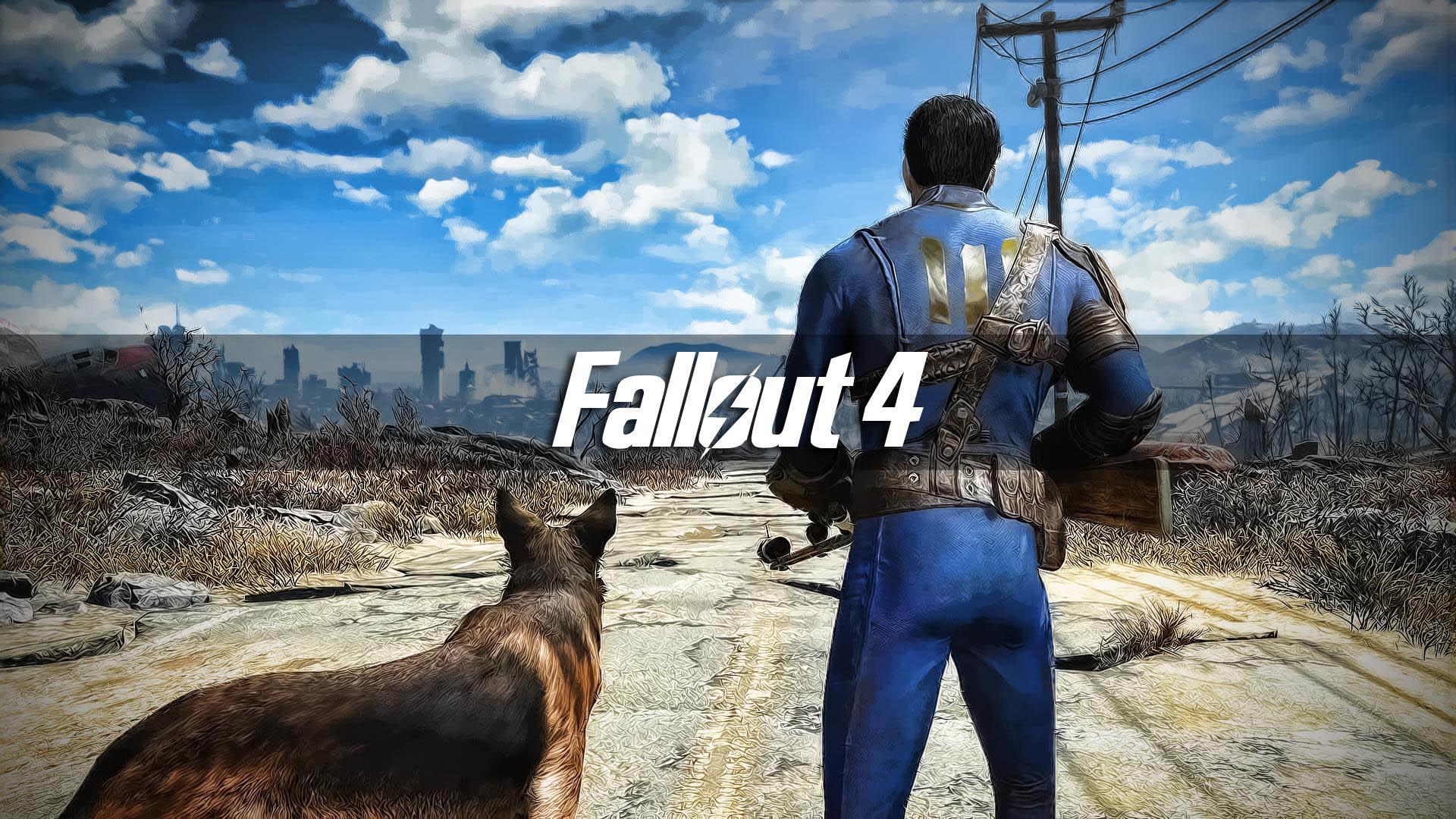 Survivor & his Dog – Fallout 4 wallpaper
