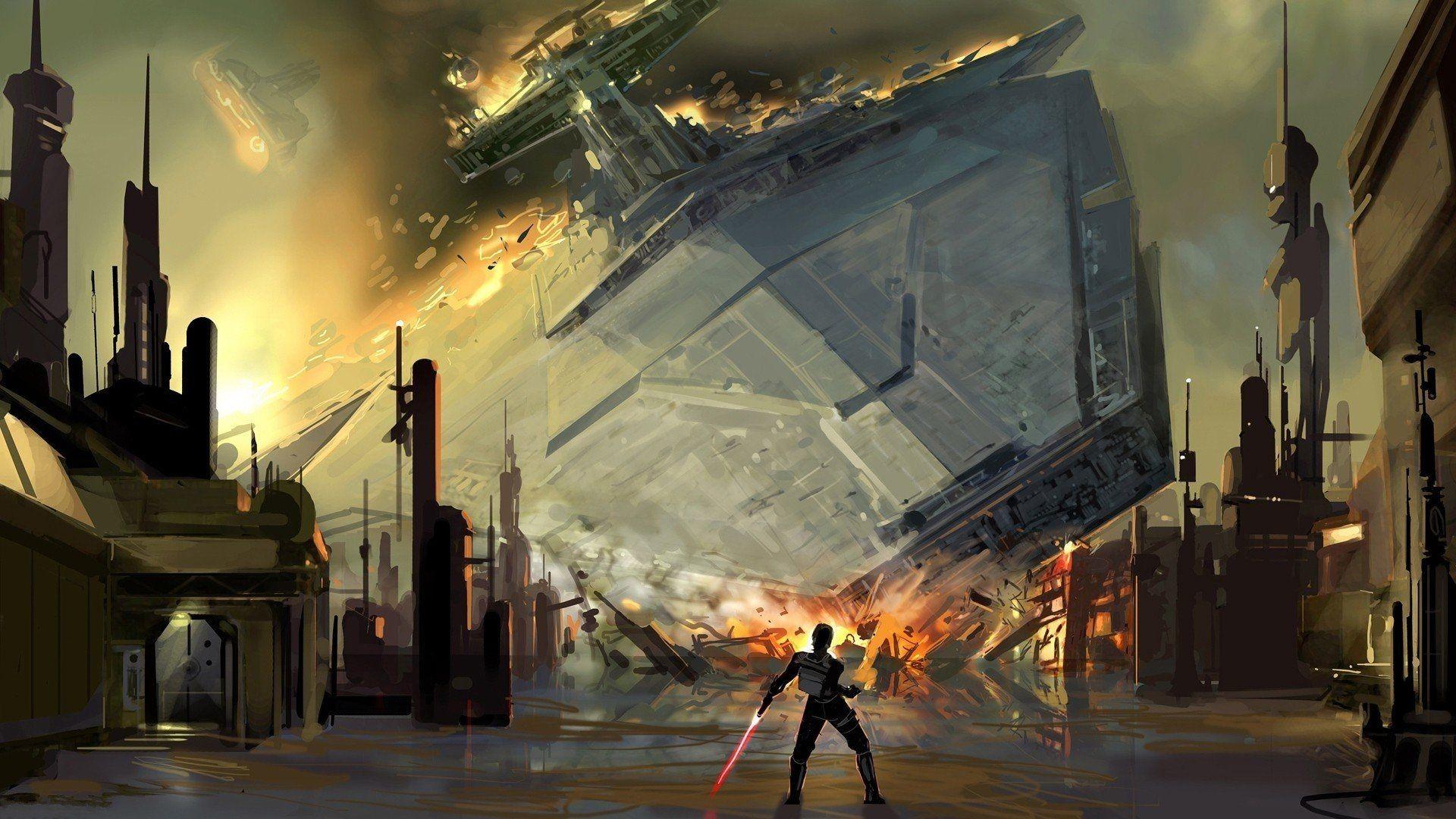 Star Wars digital art artwork wallpaper