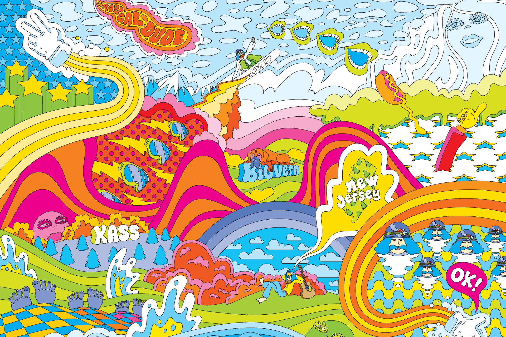 Artistic – Psychedelic Hippie Hippies Colors Colorful Trippy Wallpaper