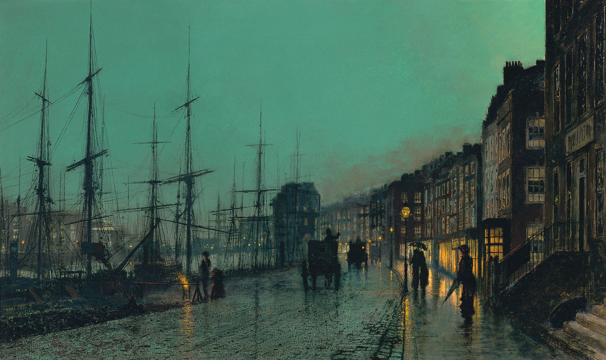 John Atkinson Grimshaw – Shipping on the Clyde …