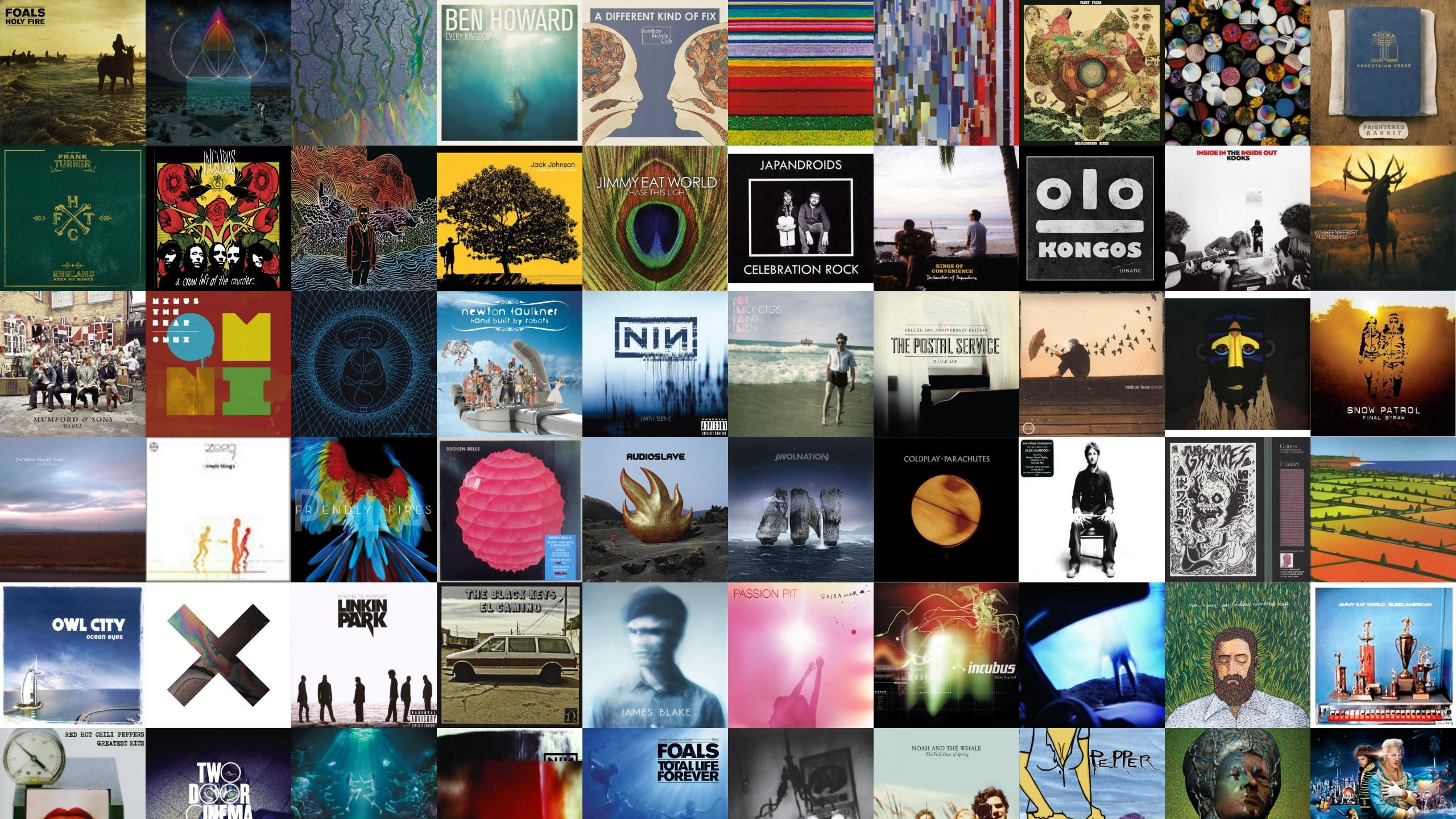 Download this free wallpaper with images of Foals – Holy Fire, The Glitch  Mob – Drink The Sea, ALt J – An Awesome Wave, Ben Howard – Every Kingdom,  …