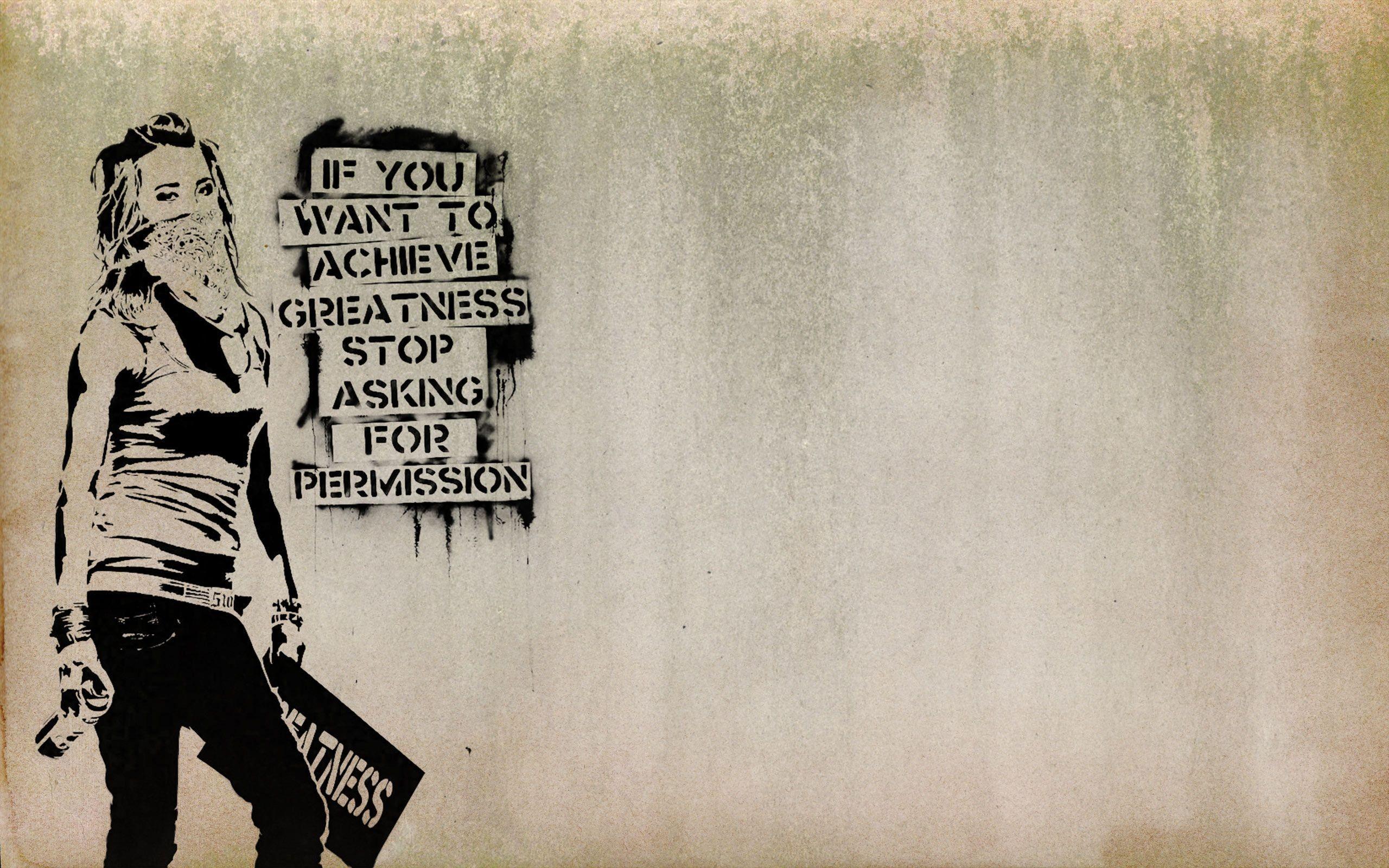 banksy graffiti quotes - HD2560×1600
