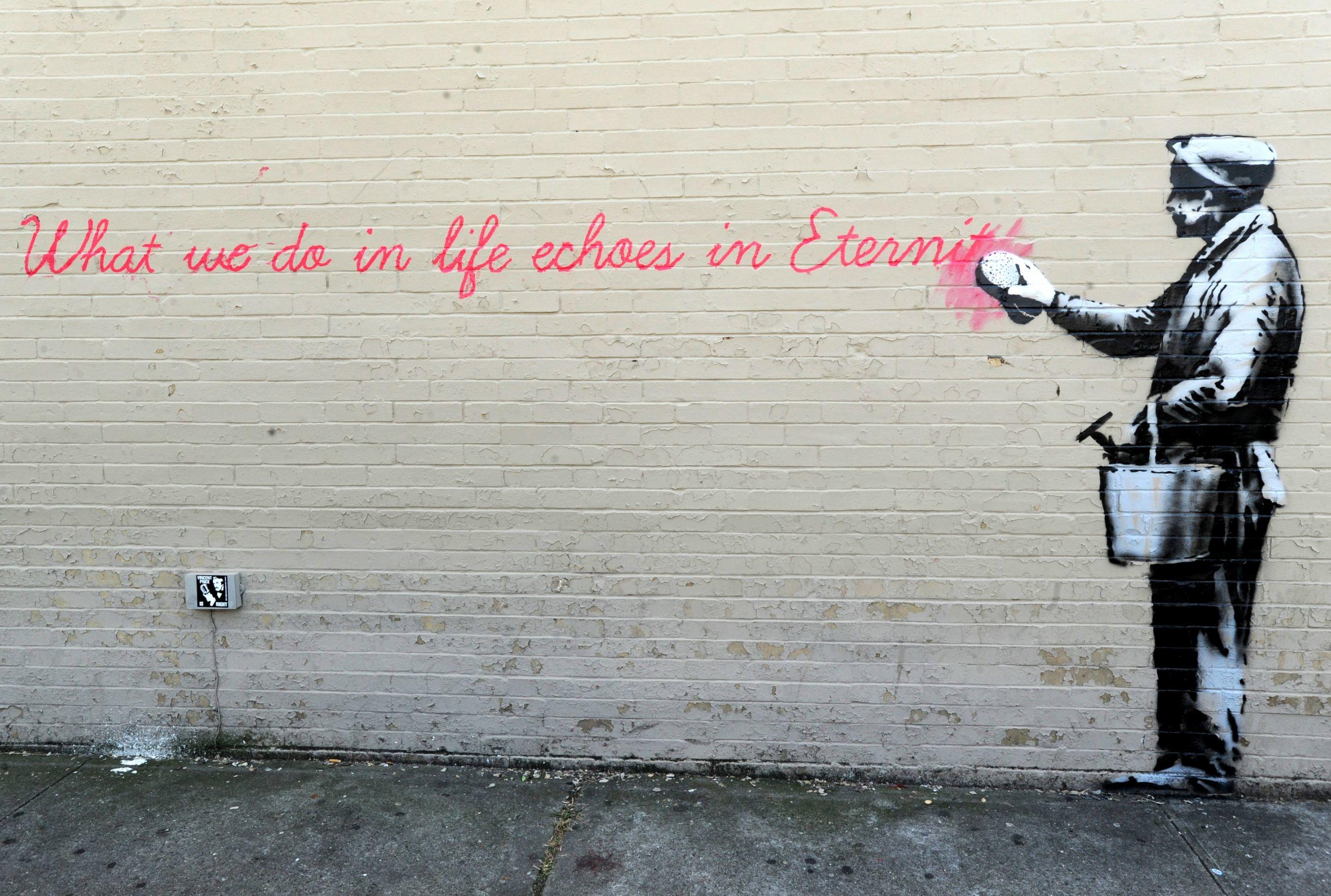42 Banksy Backgrounds