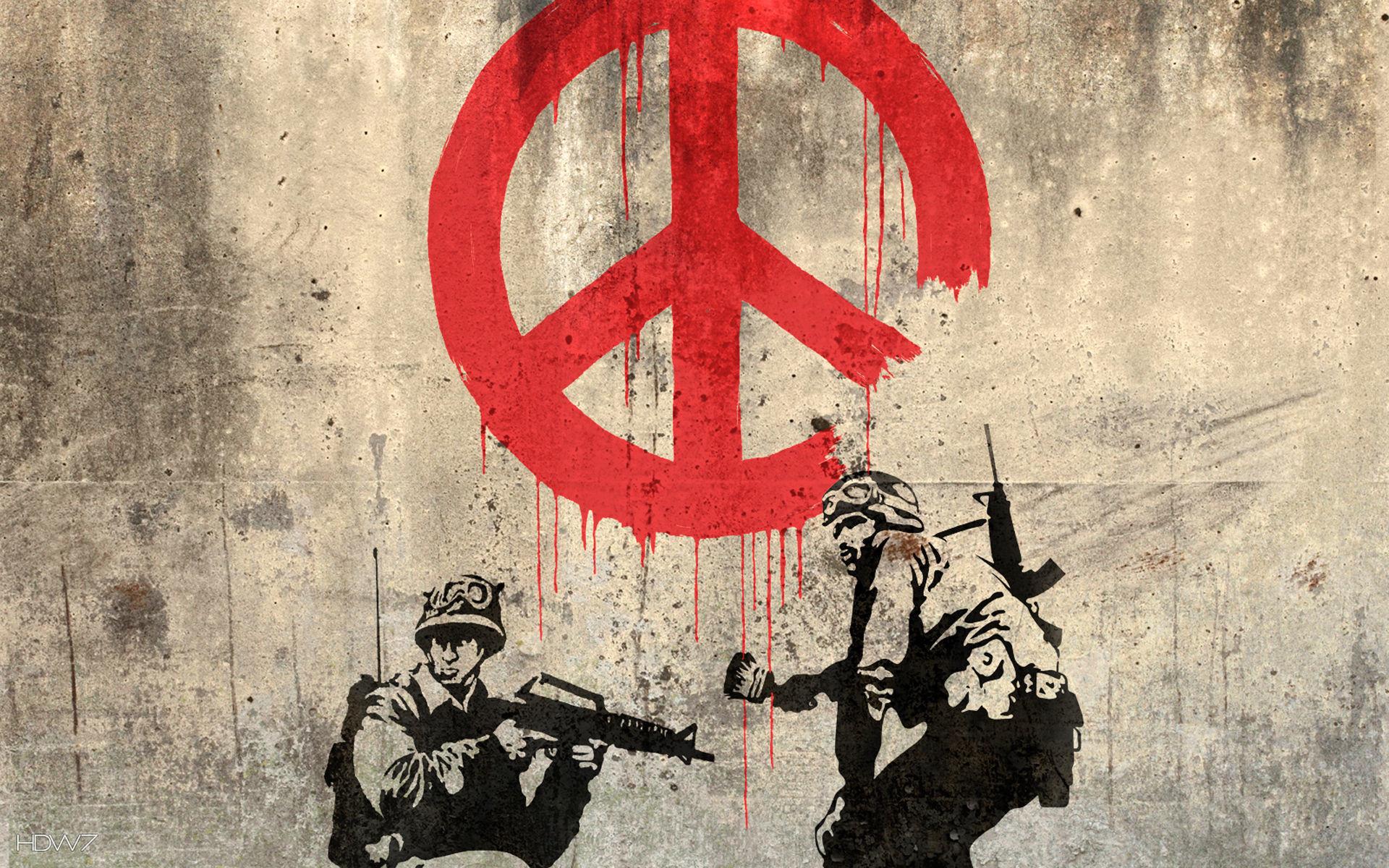 banksy peace art