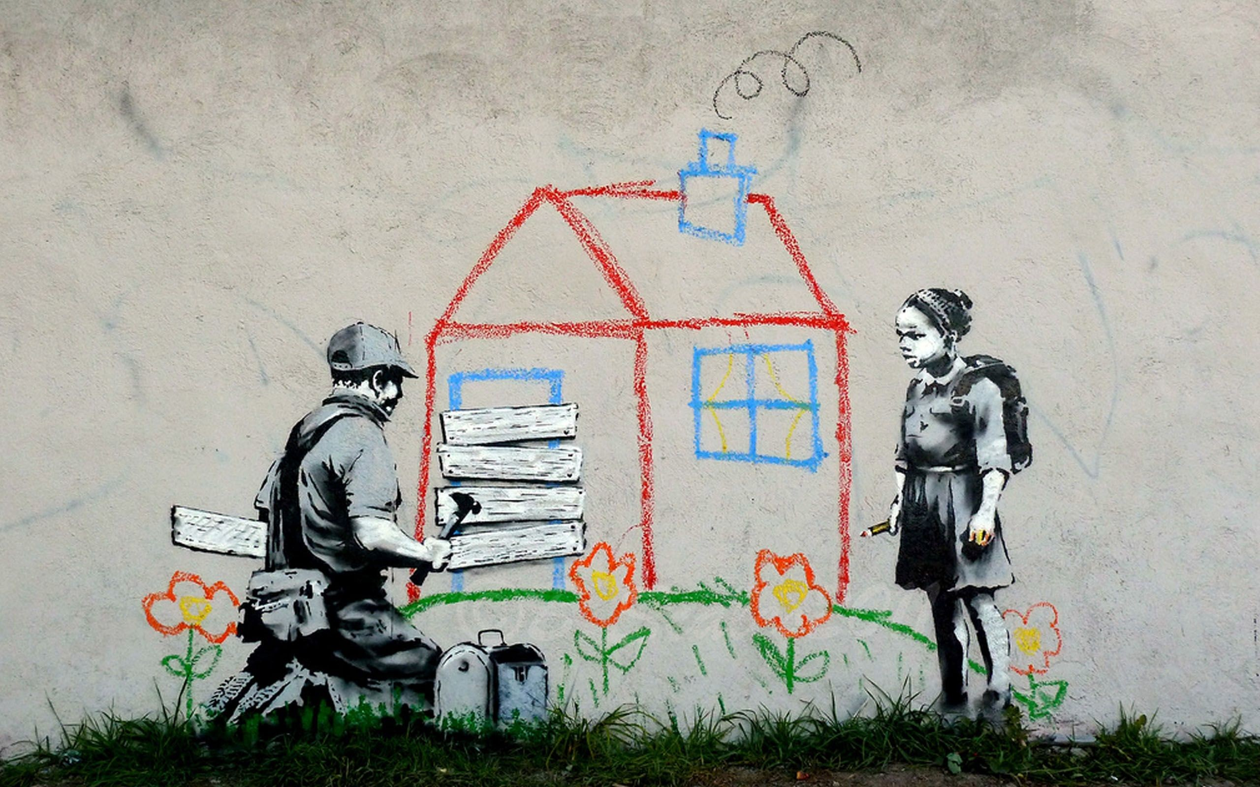 Volunteers Painting Banksy wallpapers and images – wallpapers .