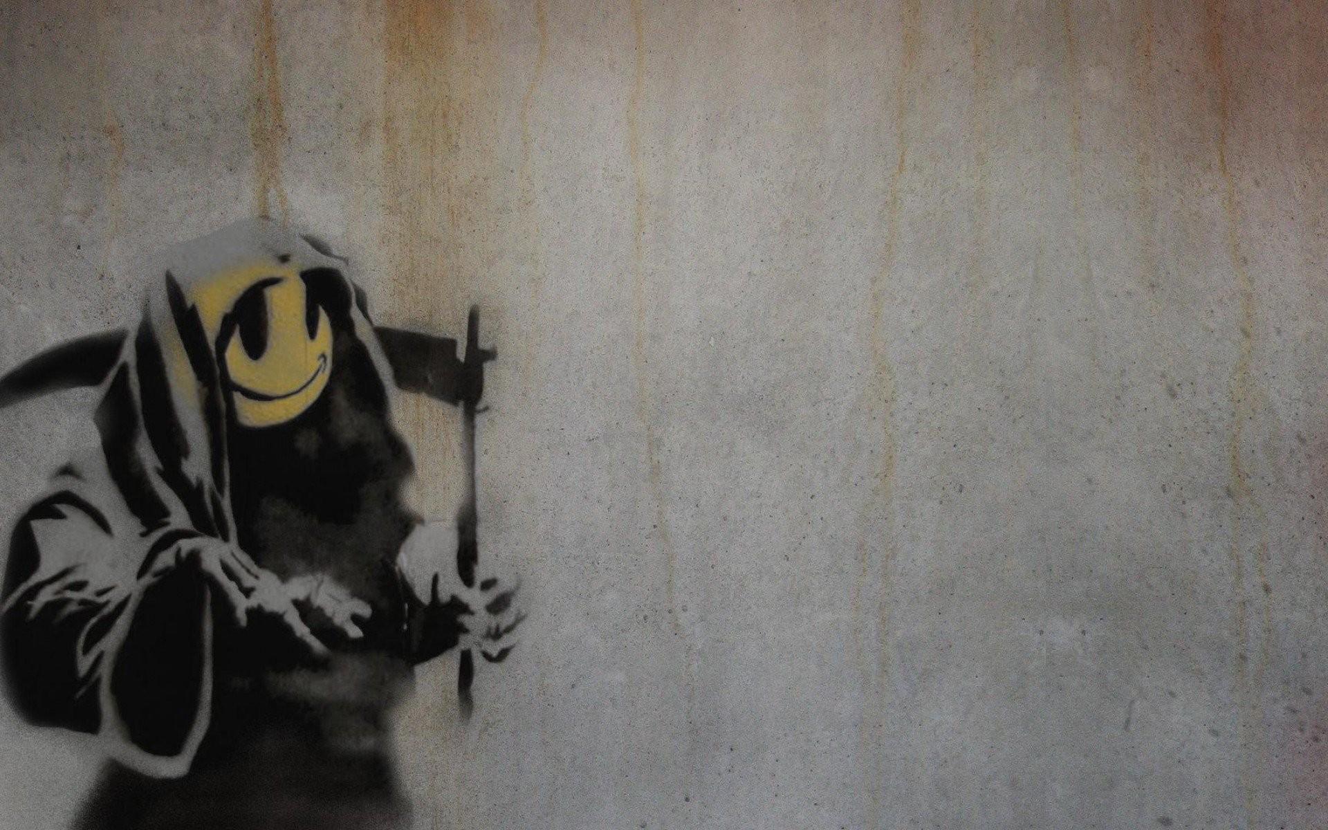 Banksy Smiley Grim Reaper