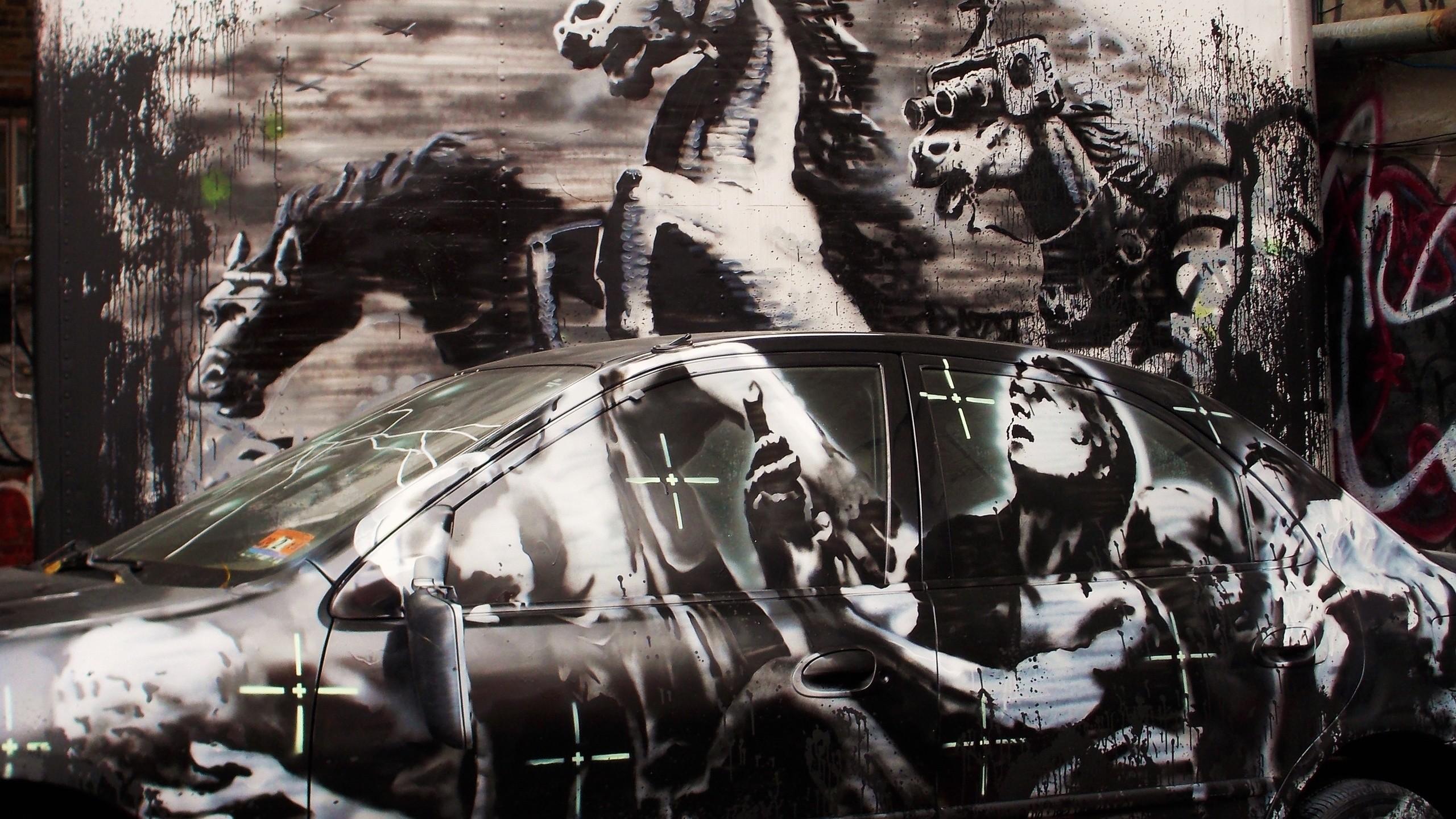 Banksy Crazy Horse, Banksy, Street Art, Streetart, Graffit, Wall Art,
