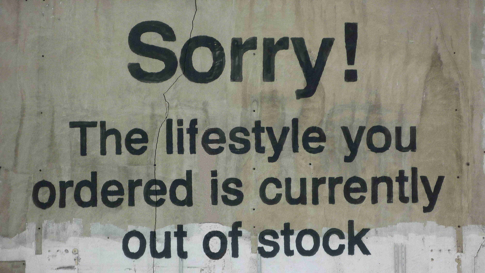 Banksy The Lifestyle You Ordered Is Currently Out Of Stock, Banksy, Street  Art,