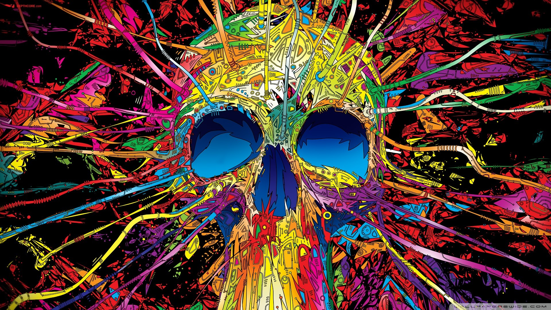 Psychedelic Skull Wallpaper available in various resolutions to suit your  computer desktop, iPhone, iPad & Android™ devices, and discover more  Abstract …