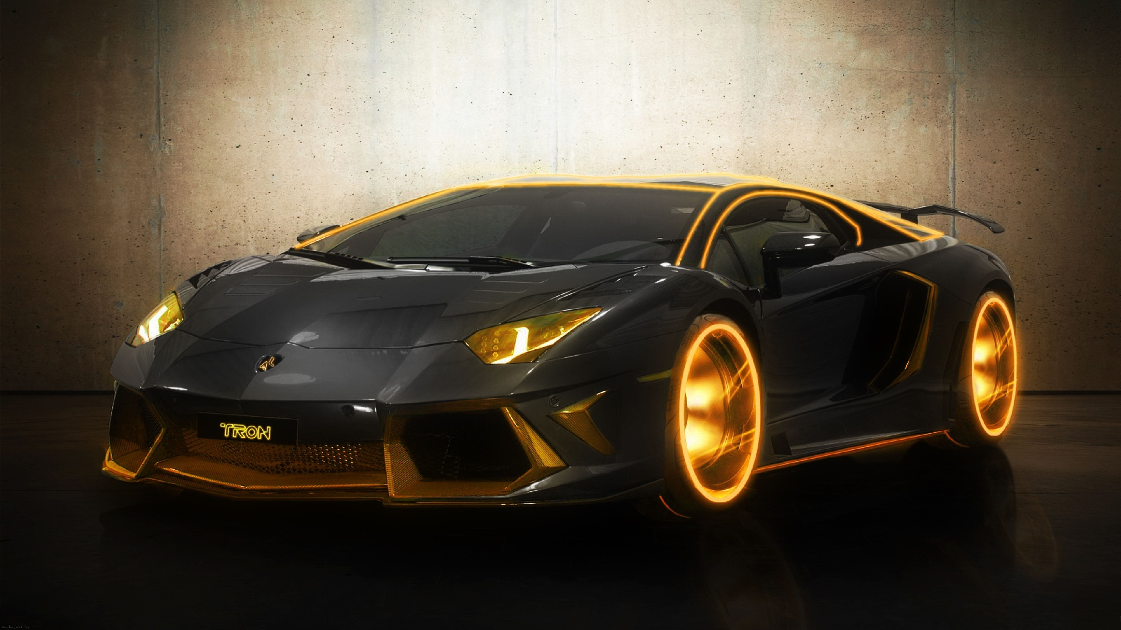 Pin Gold Cool Cars Wallpaper on Pinterest 0 HTML code. Lamborghini  Aventador Tron Edition – Gear Heads