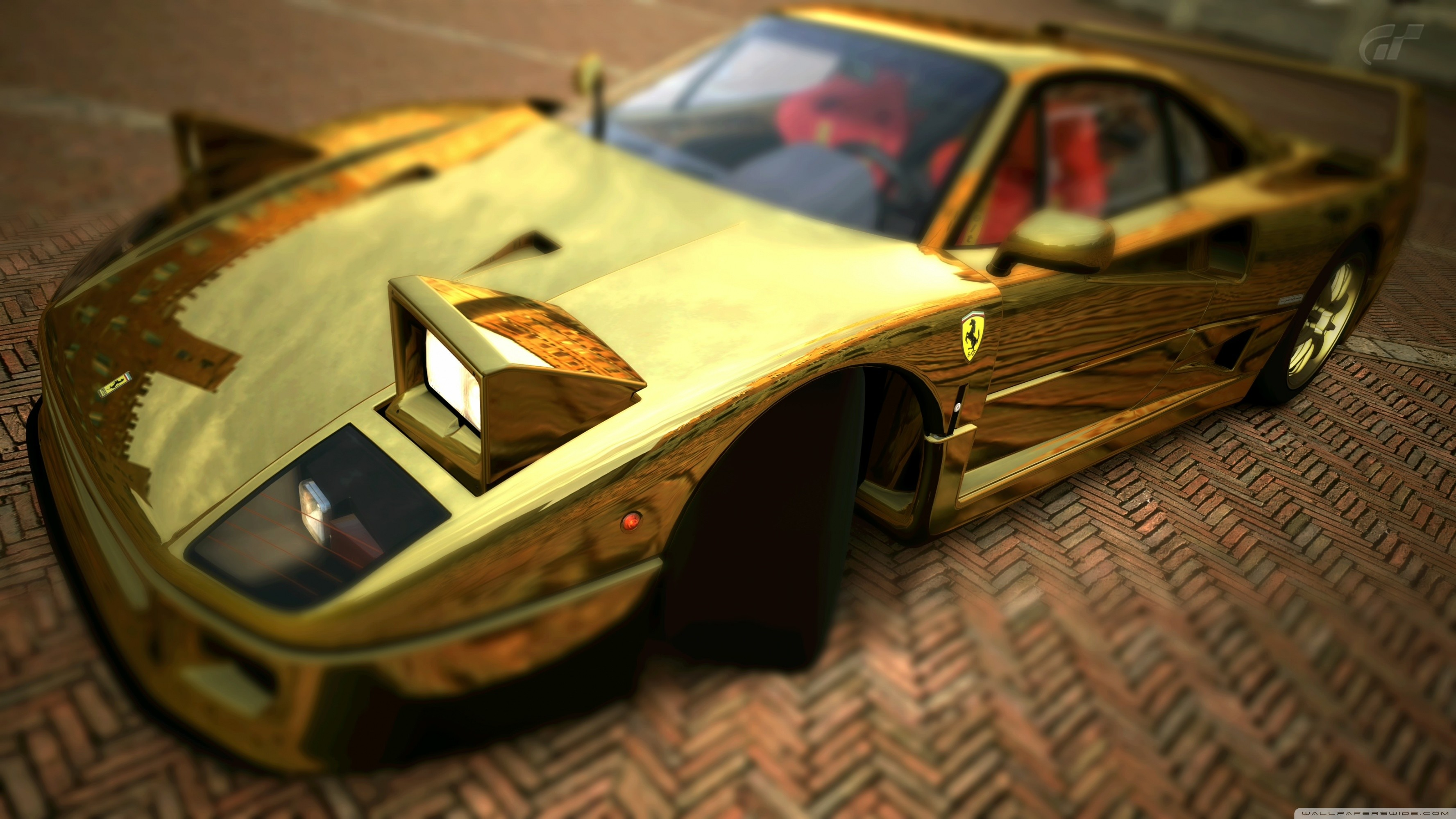 … ferrari f40 gold hd desktop wallpaper high definition mobile …