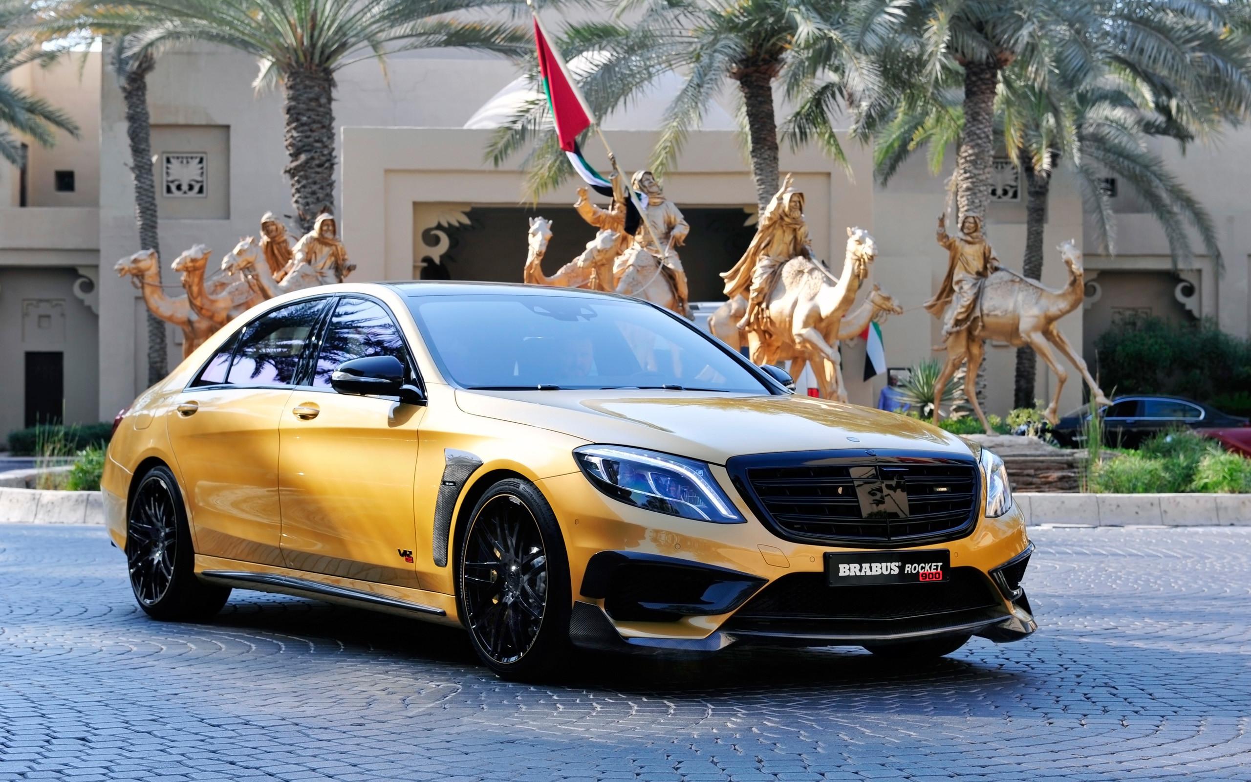 Brabus Mercedes Benz S65 Rocket 900 Desert Gold