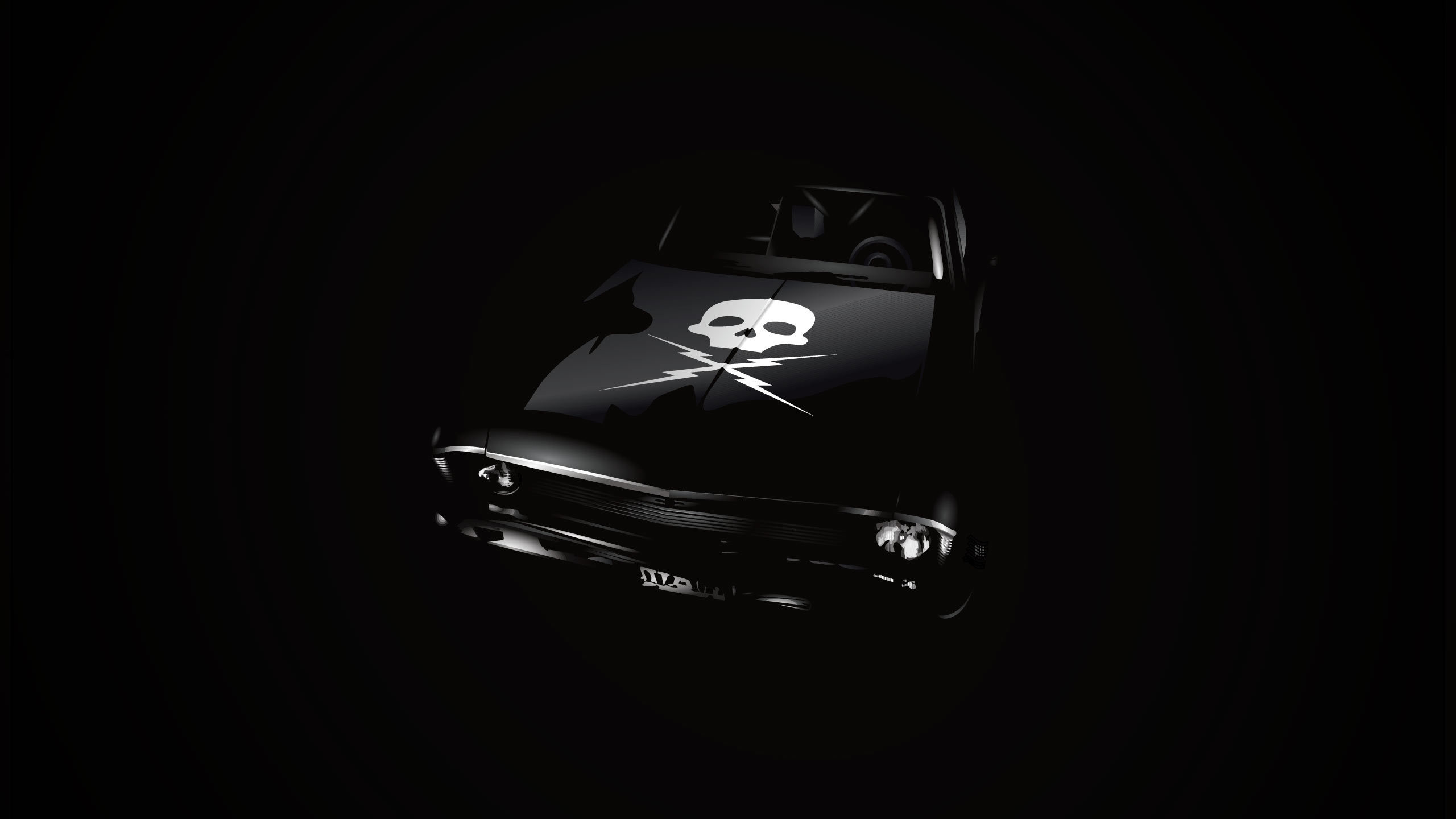 death proof, death proof, skull, Chevrolet, nova