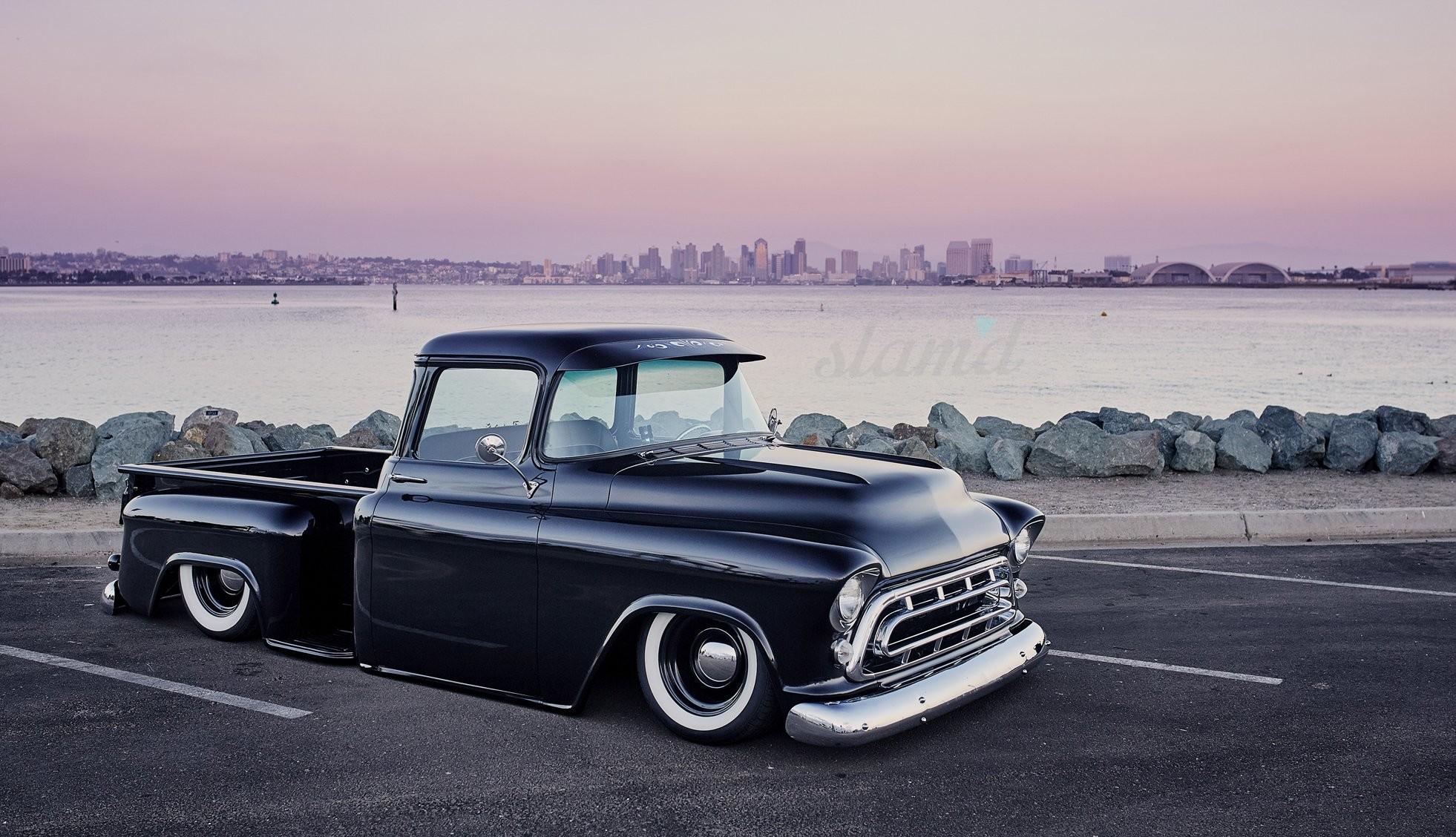 1957 CHEVY 3100 PICKUP tuning custom hot rod rods pickup truck wallpaper      839611   WallpaperUP