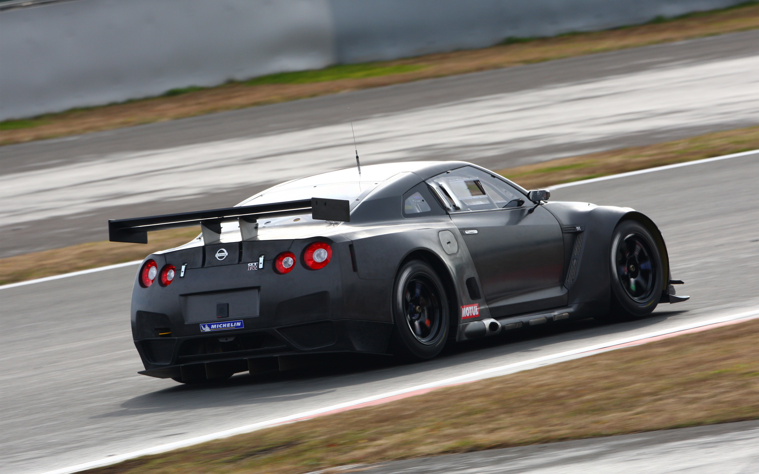 Black Cars Nissan GT-R FIA GT1 Supercars Vehicles