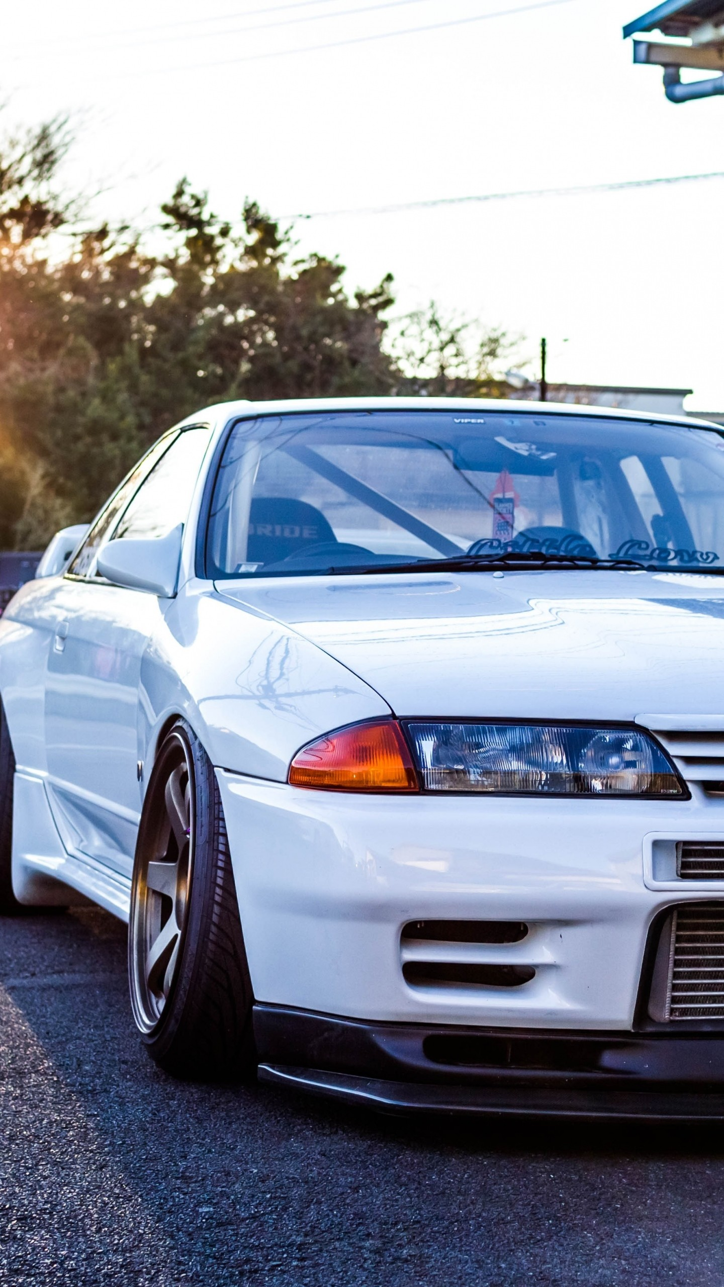 Preview wallpaper nissan, gtr, r32, skyline, white, front view 1440×2560