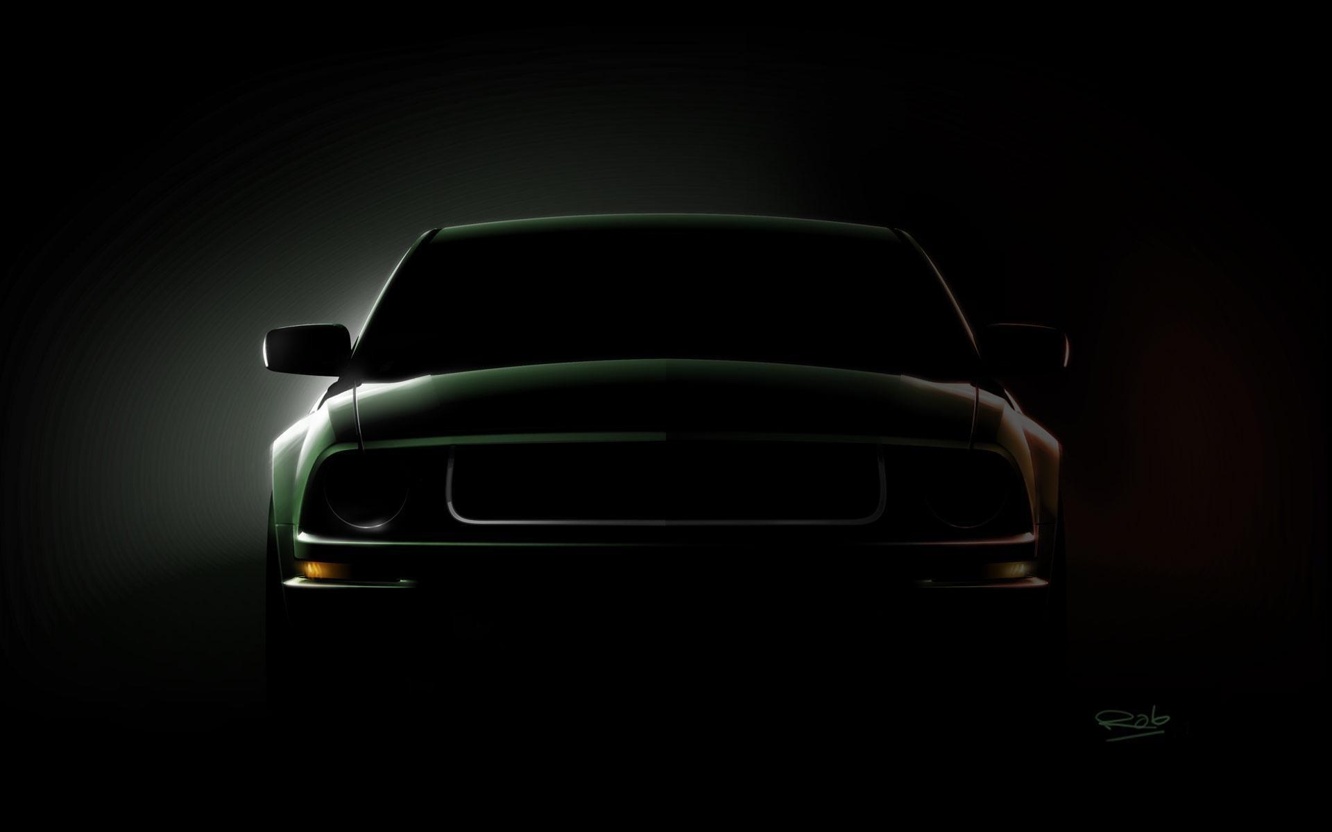 Mustang Logo Black Backgrounds