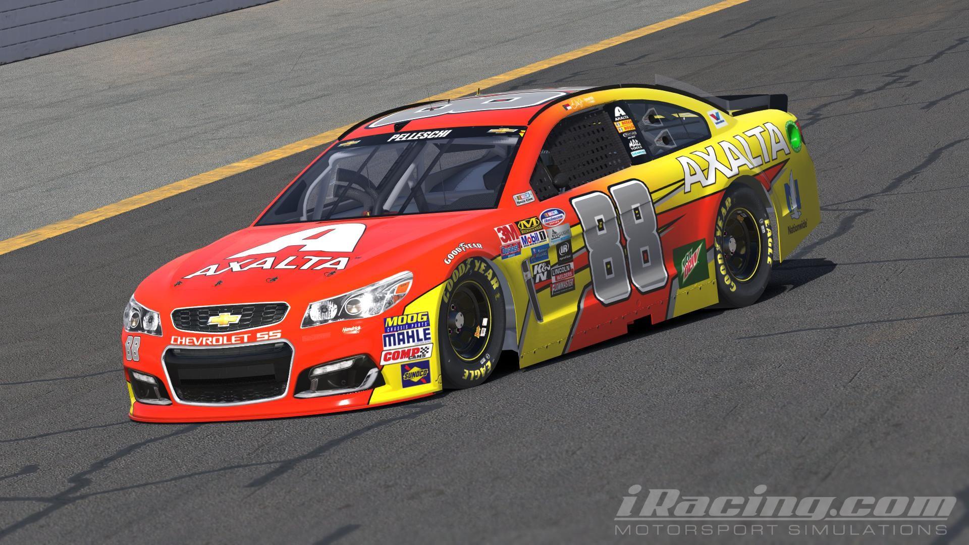 "Dale Earnhardt Jr. – AXALTA ""Flash Point"" INVERSE NASCAR Monster Energy Cup  Chevrolet SS by Andrew Pelleschi"