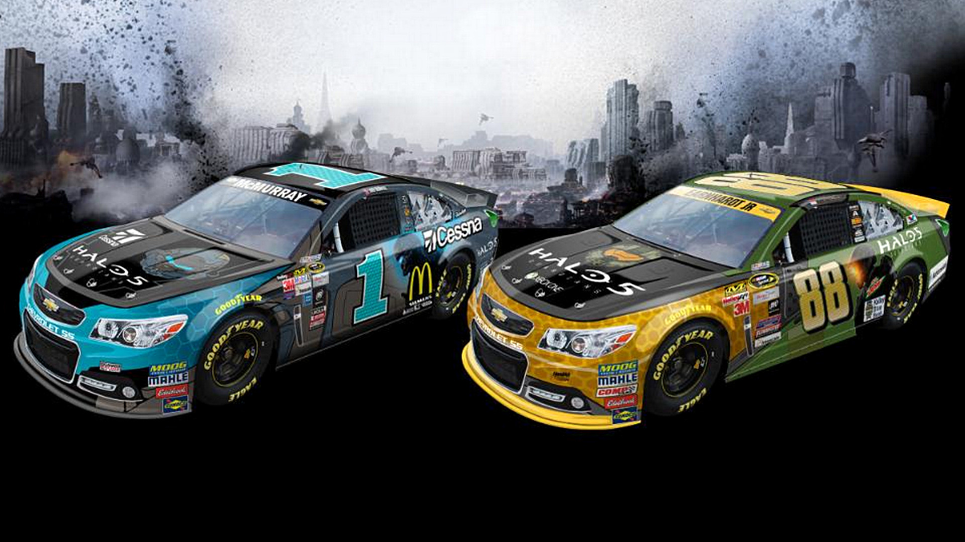 Dale Earnhardt Jr., Jamie McMurray cars to have 'Halo' schemes | NASCAR |  Sporting News