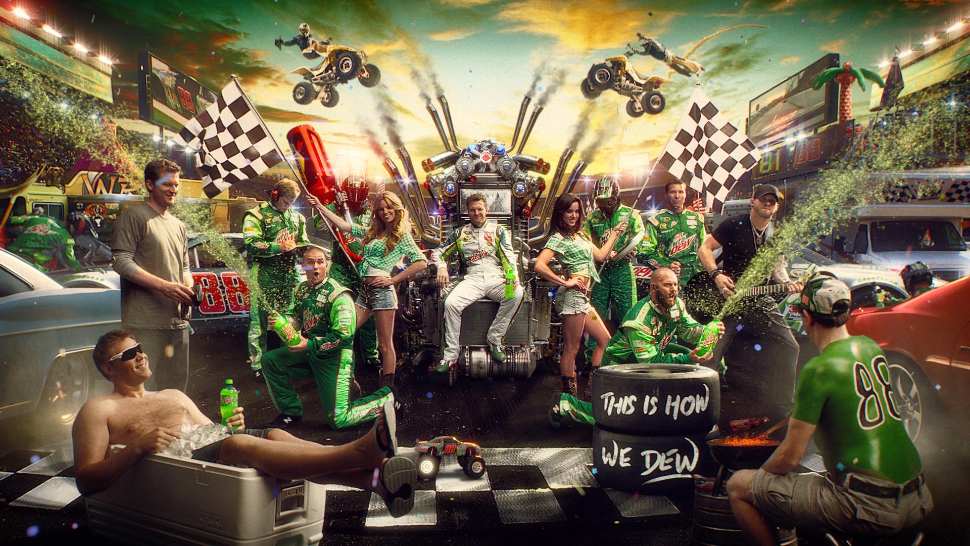 Dale Earnhardt Jr's #88 Mountain Dew DEWcision Chevy | NASCAR .