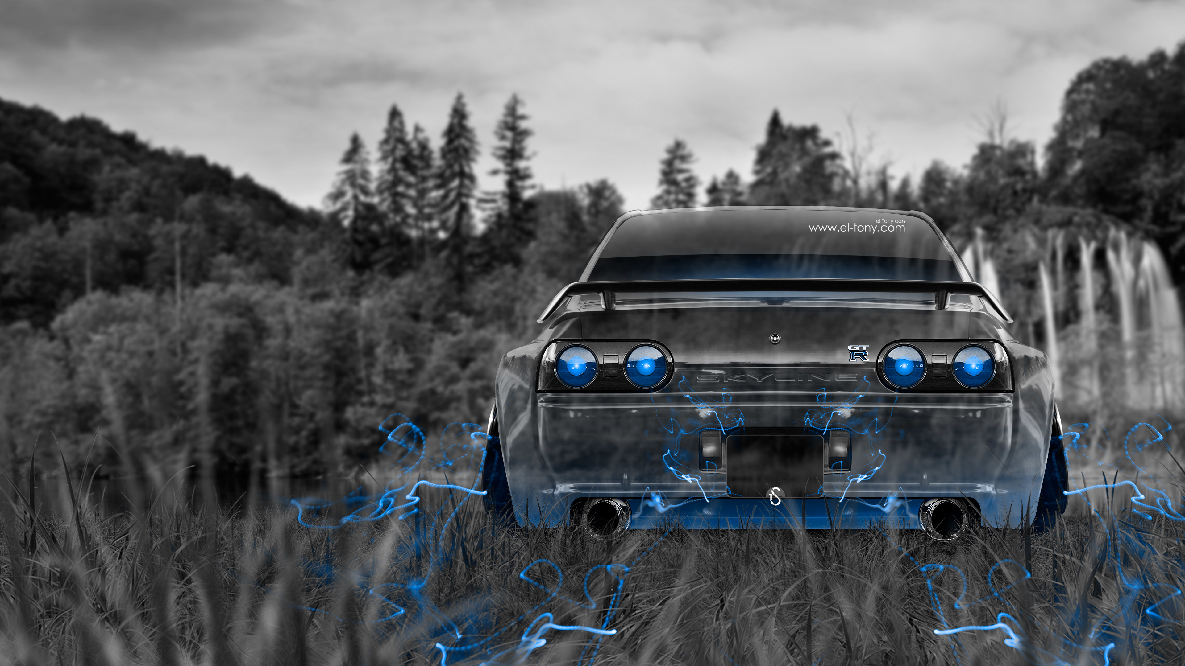<b>Nissan Skyline</b> GTR R34 Anime Aerography Smoke Car 2014