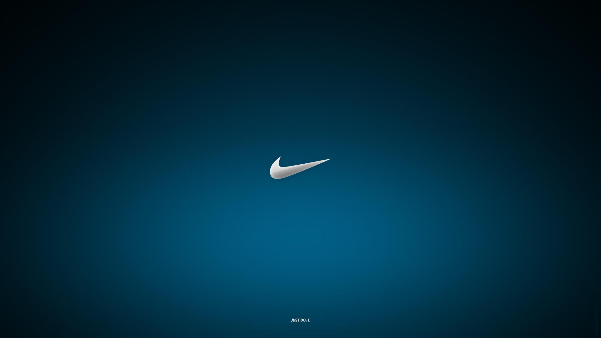 Blue Nike Logo Just Do It