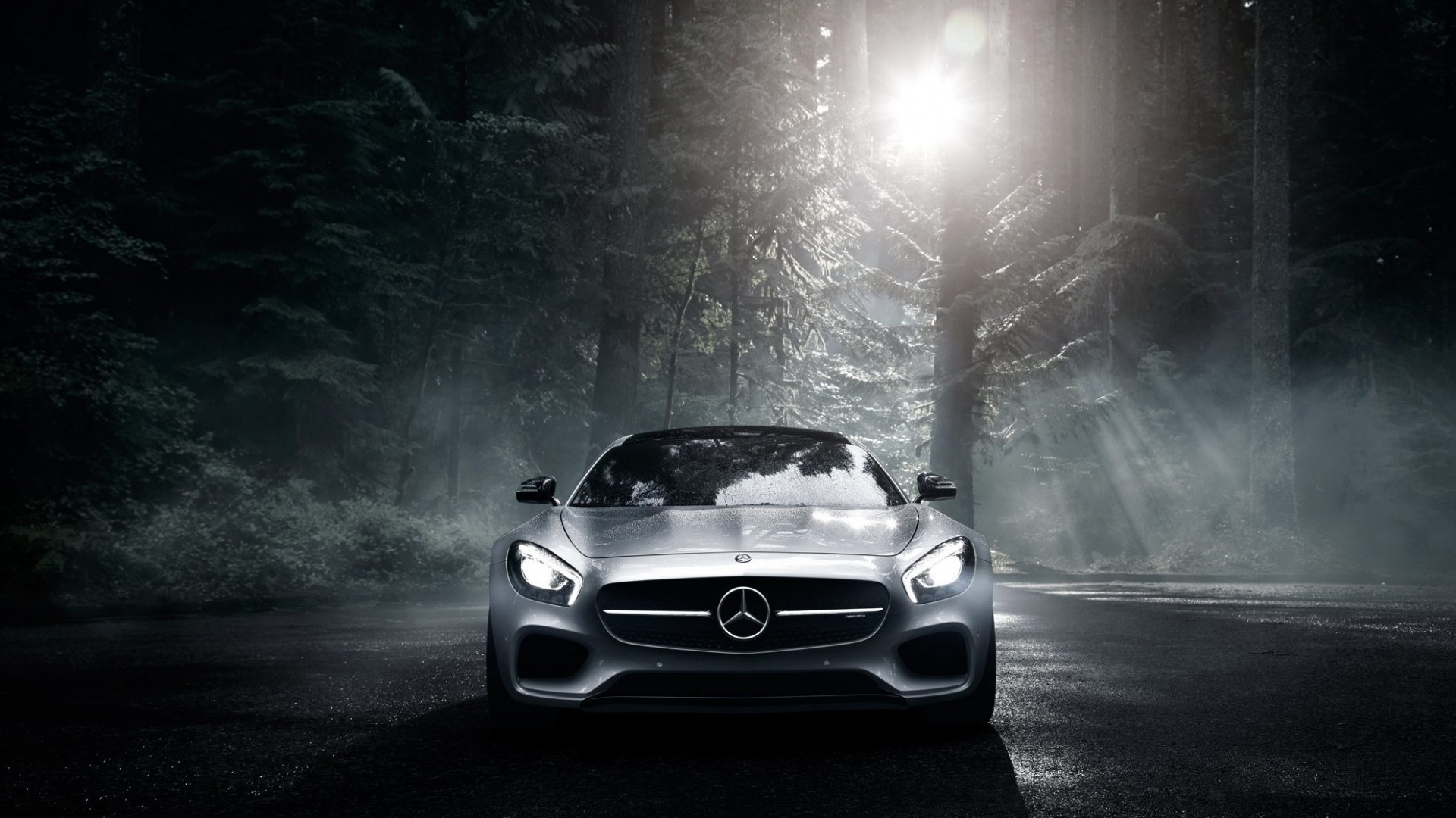 … Background Full HD 1080p. Wallpaper mercedes benz,  mercedes-amg, front view, silver, wood