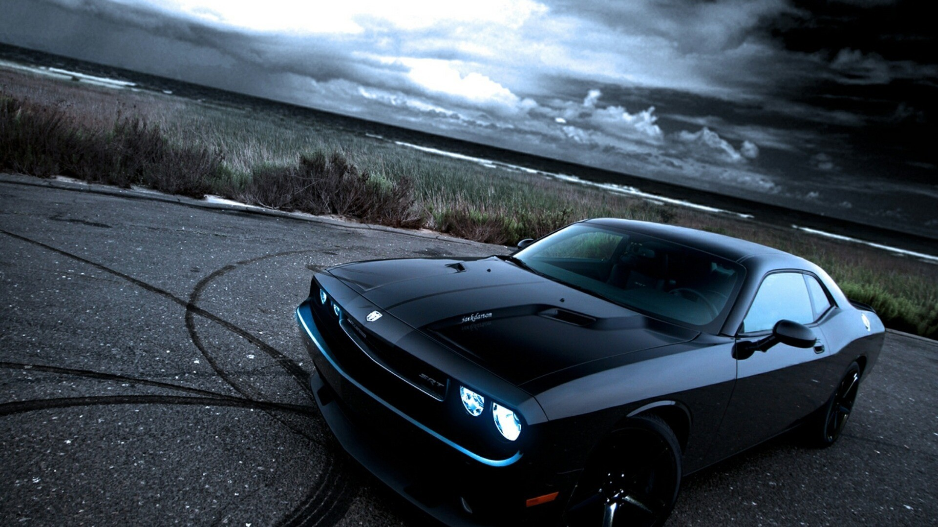 American Black Cars Dodge Dodge Challenger Dodge Challenger Srt Front Angle  View Muscle Cars. hd muscle car wallpapers danasrfitop