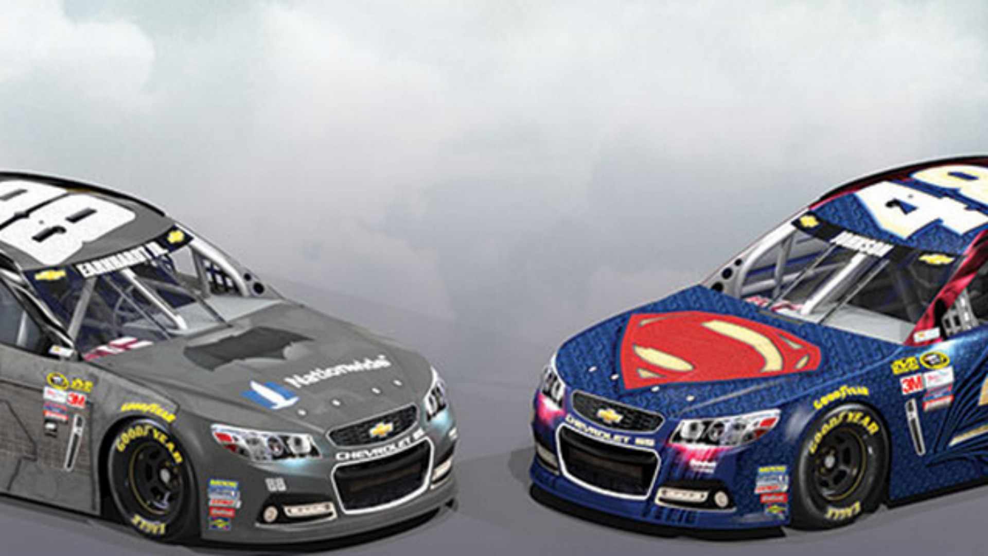 Dale Earnhardt Jr., Jimmie Johnson reveal epic 'Batman vs. Superman' paint  schemes | NASCAR | Sporting News