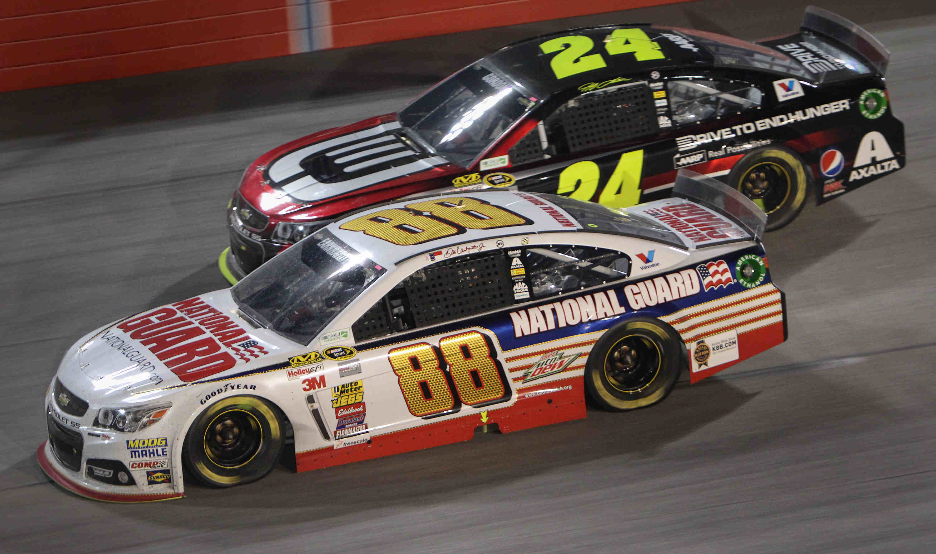 Dale Earnhardt Jr. (88) came within a lap of winning for the first