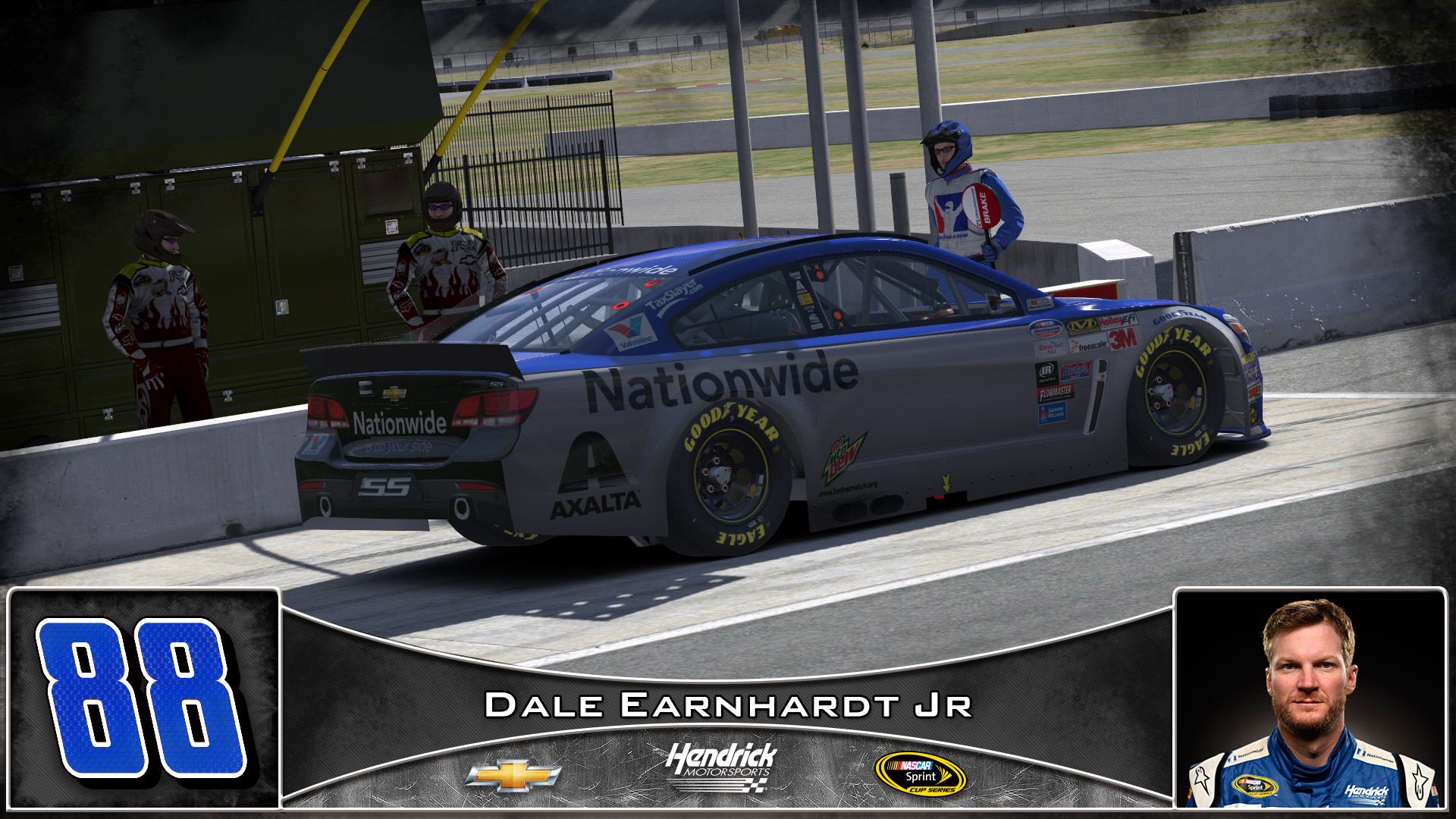 #88 Dale Earnhardt Jr Nationwide 2016 by Udo Washeim – Trading Paints
