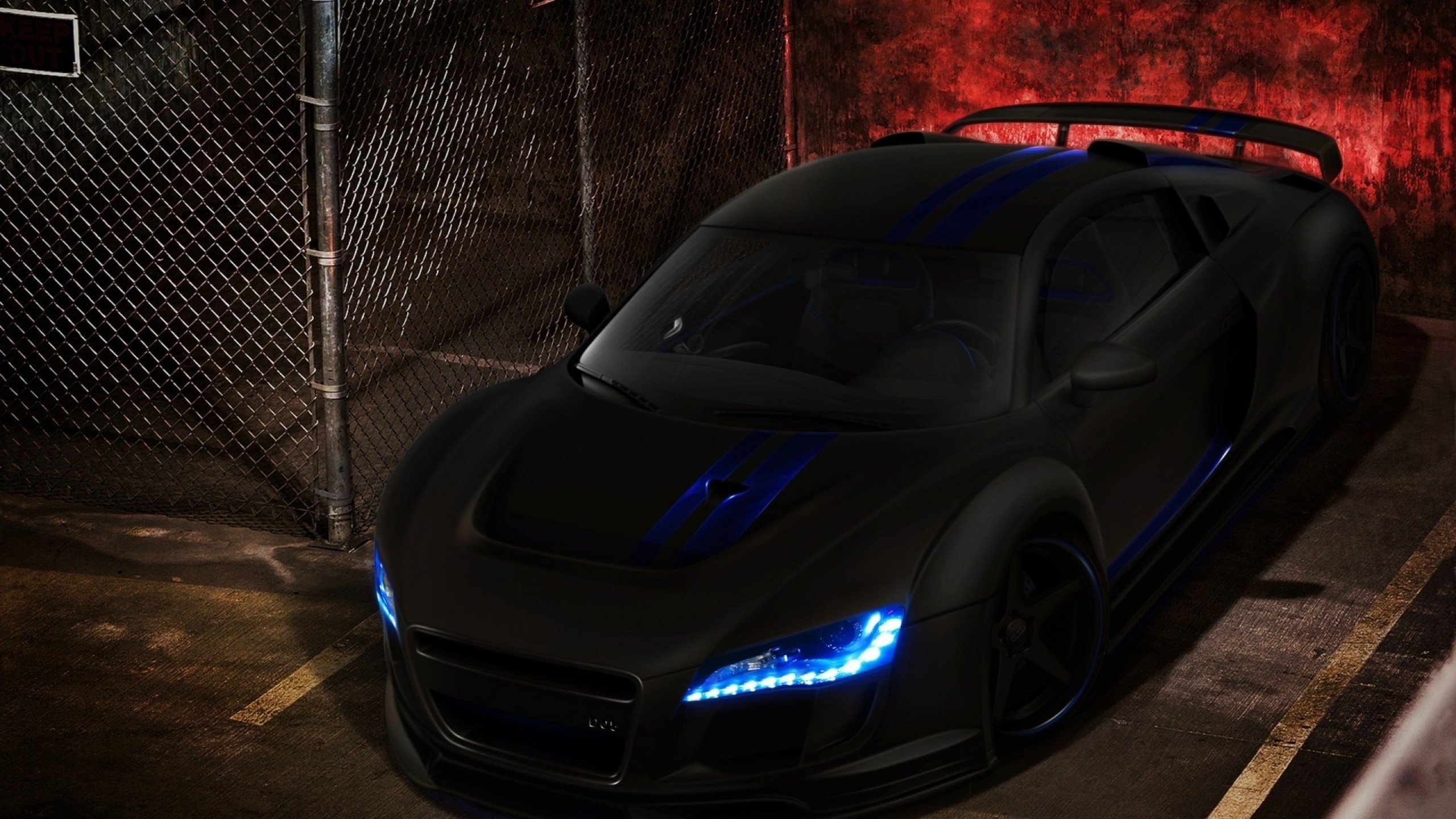Audia R8 in matte black with cool lights #audi #r8 #wallpapers www.yours- cars.eu | Rides | Pinterest | Audi r8 wallpaper, Audi R8 and Audi