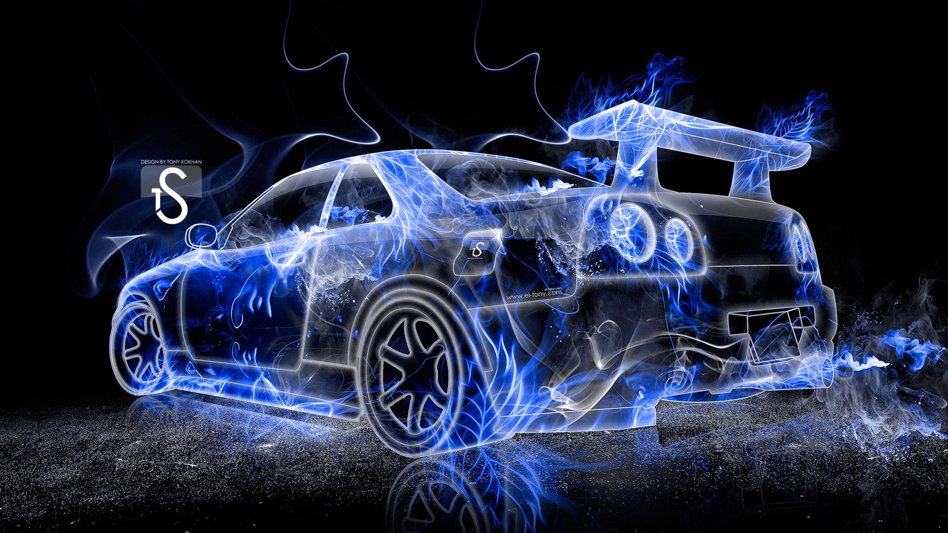 hd pics photos cars blue fire abstract desktop background wallpaper