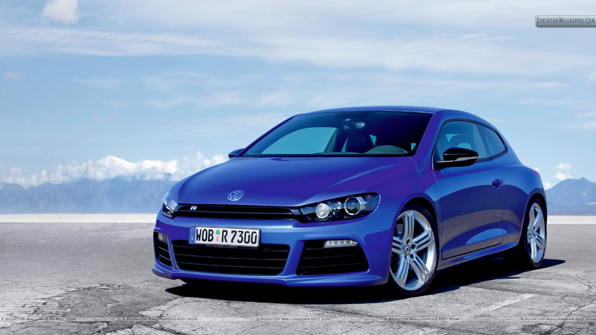 """You are viewing wallpaper titled """"Volkswagen Scirocco R Blue Car …"""