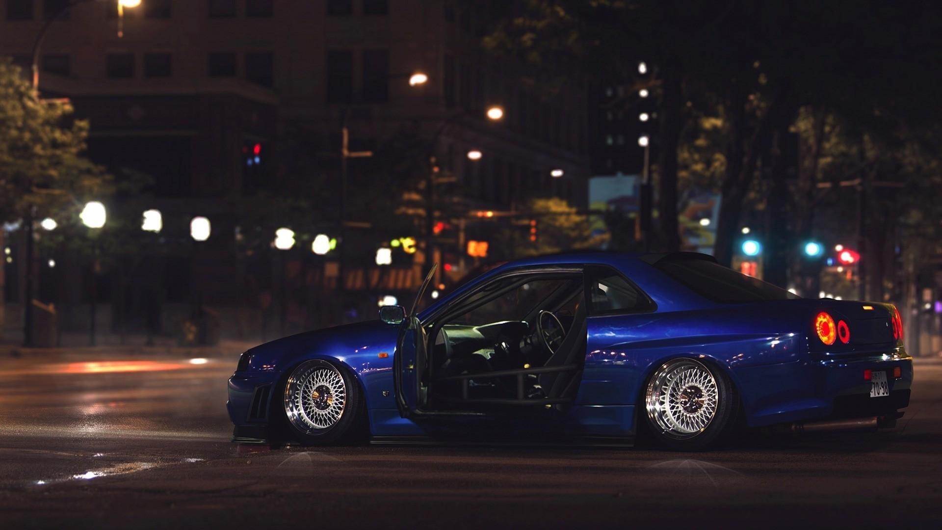 car, Nissan Skyline GT R R34, Tuning, Street, Ricer Wallpaper