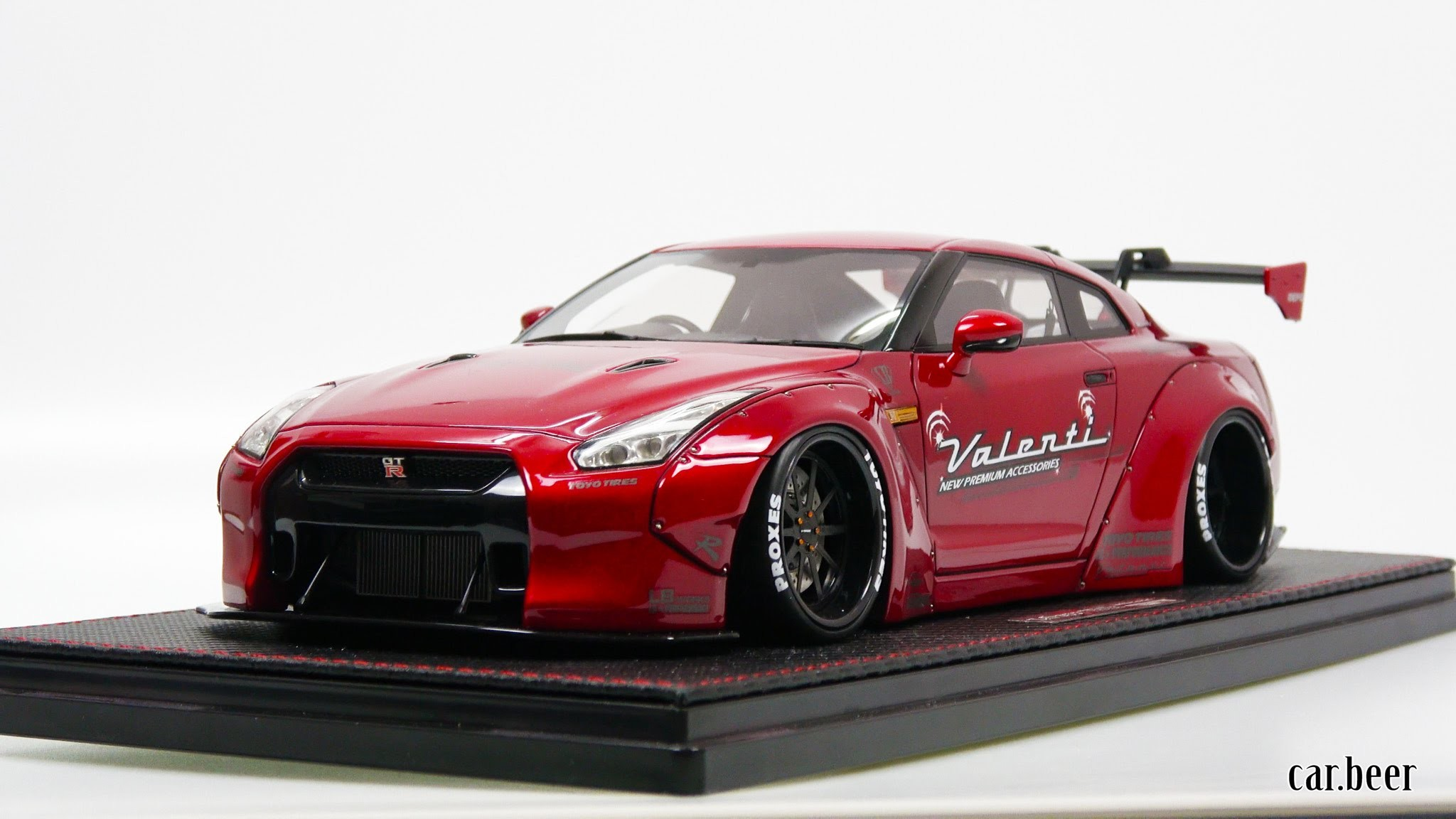 1/18 Ignition Model Liberty Walk LB-Works Nissan GT-R (R35) Red review – 4K  video