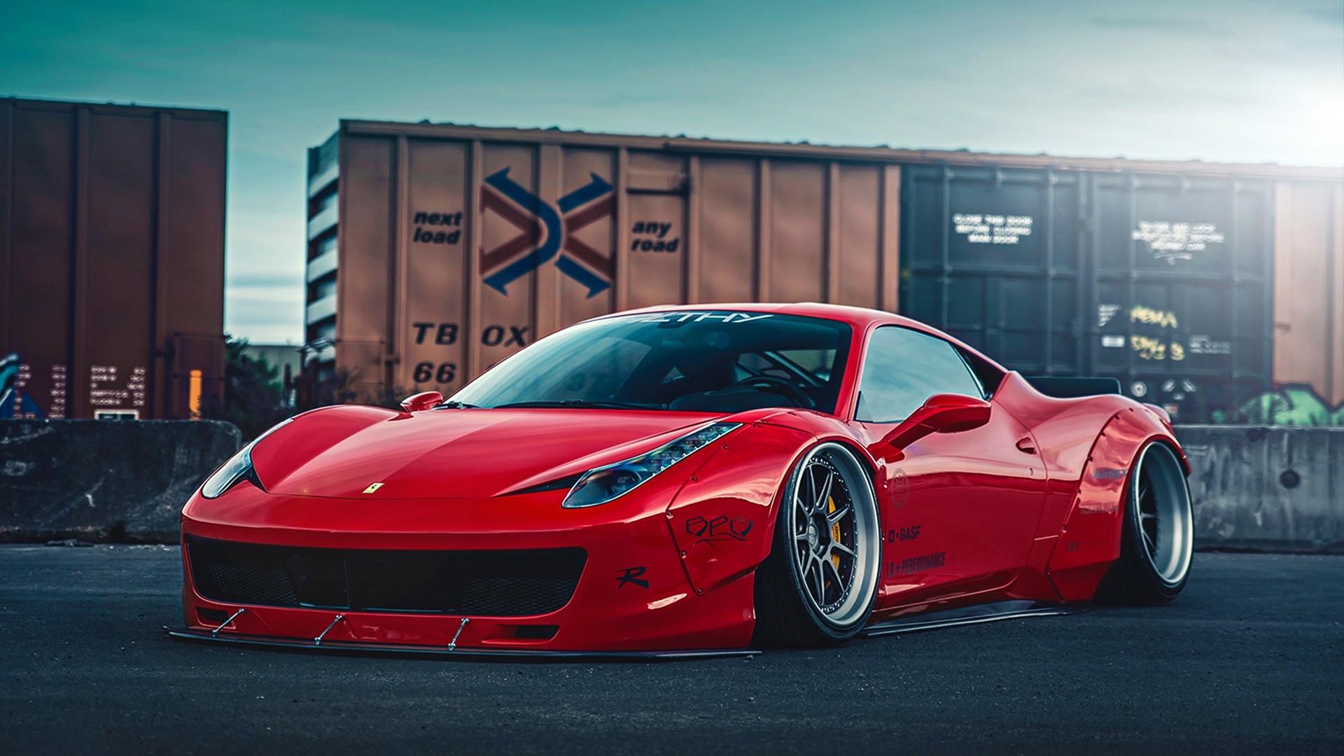 … x 1080 Original. Wallpaper: Ferrari 458 Liberty Walk 2