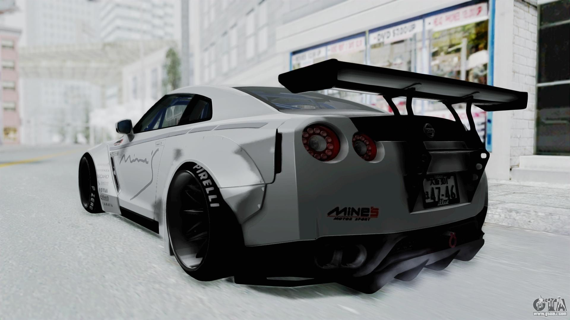 Nissan GT-R R35 2010 Liberty Walk for GTA San Andreas left view