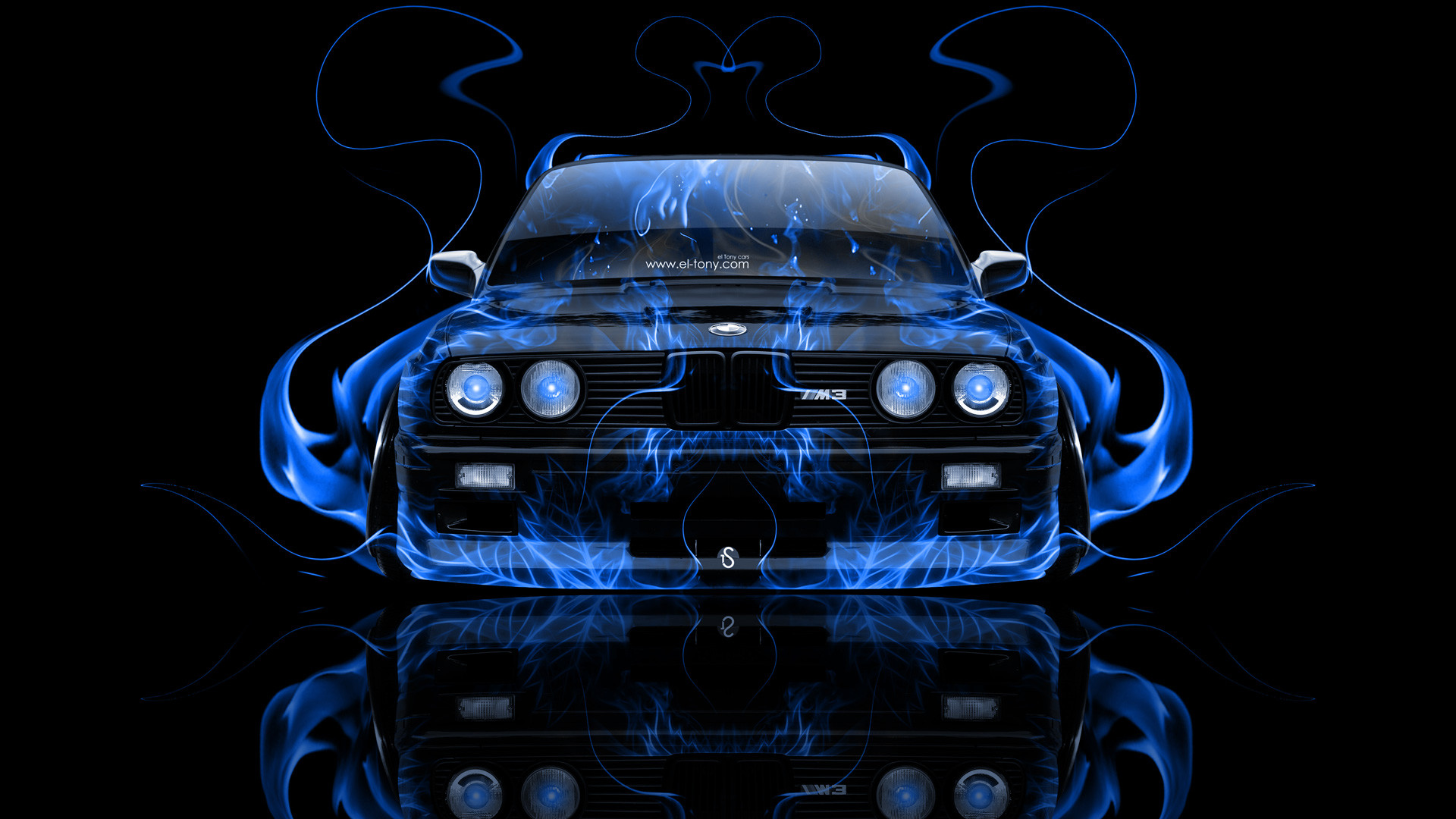 BMW-M3-E30-Front-Blue-Fire-Abstract-Car-2014-HD-Wallpapers-design-by .