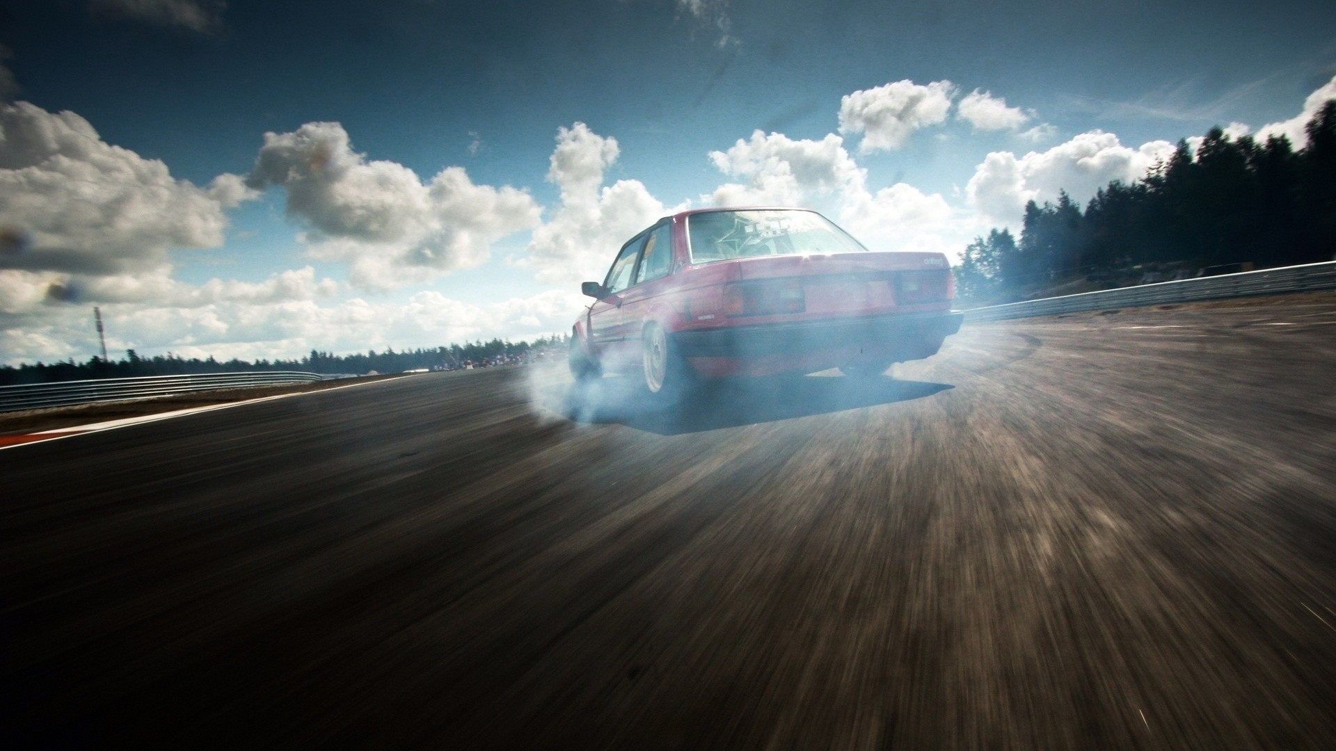 drift, Smoke, Car, Clouds, Race Tracks, BMW E30 Wallpapers HD / Desktop and  Mobile Backgrounds