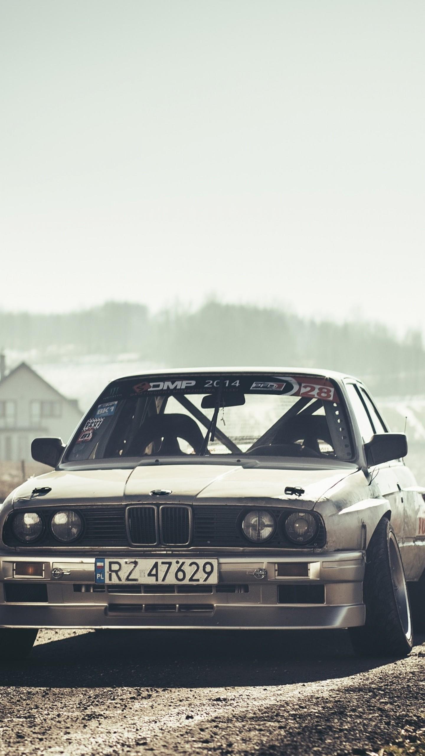 Wallpaper bmw, e30, drift, front view