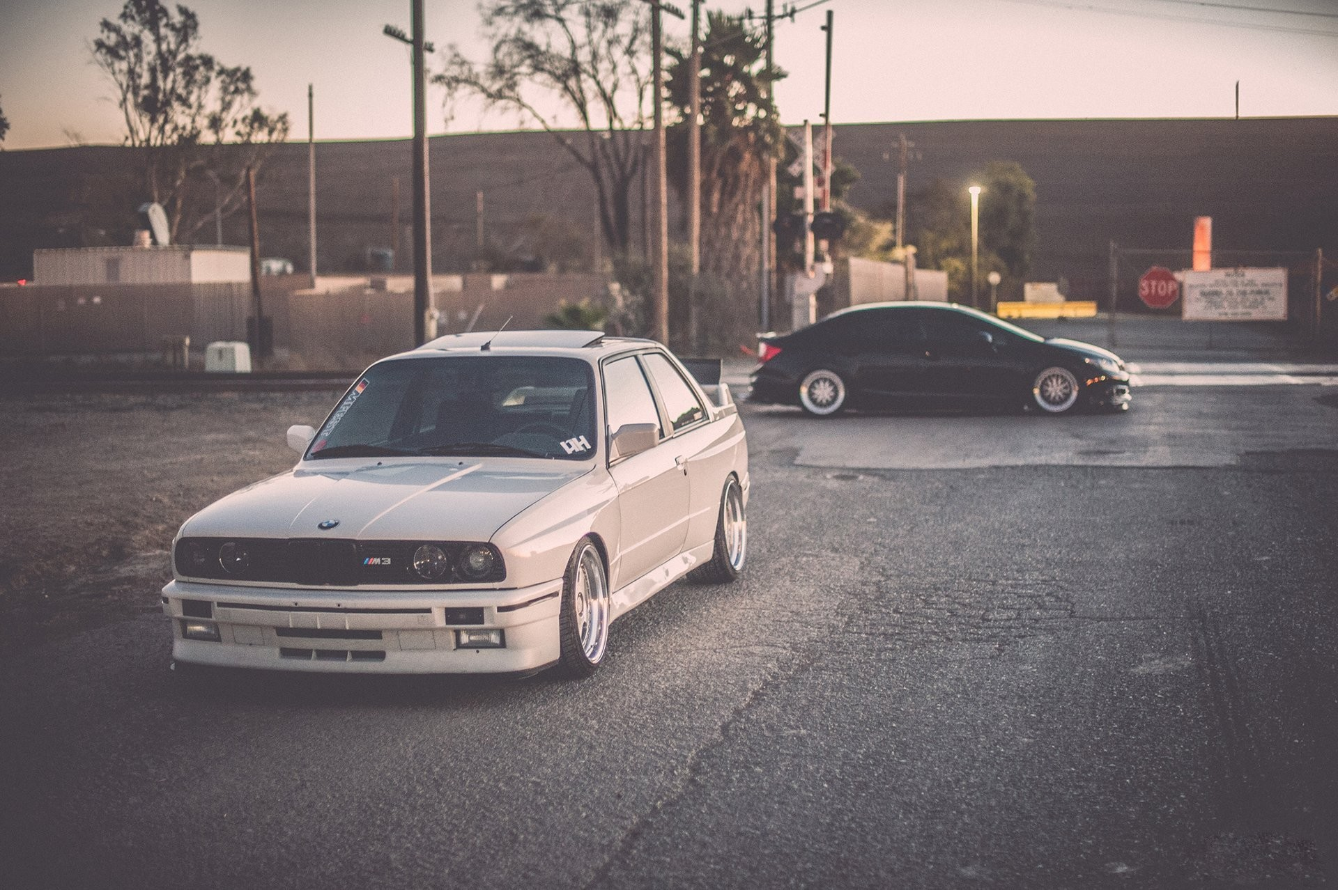 bmw e30 m3 tuning white stance