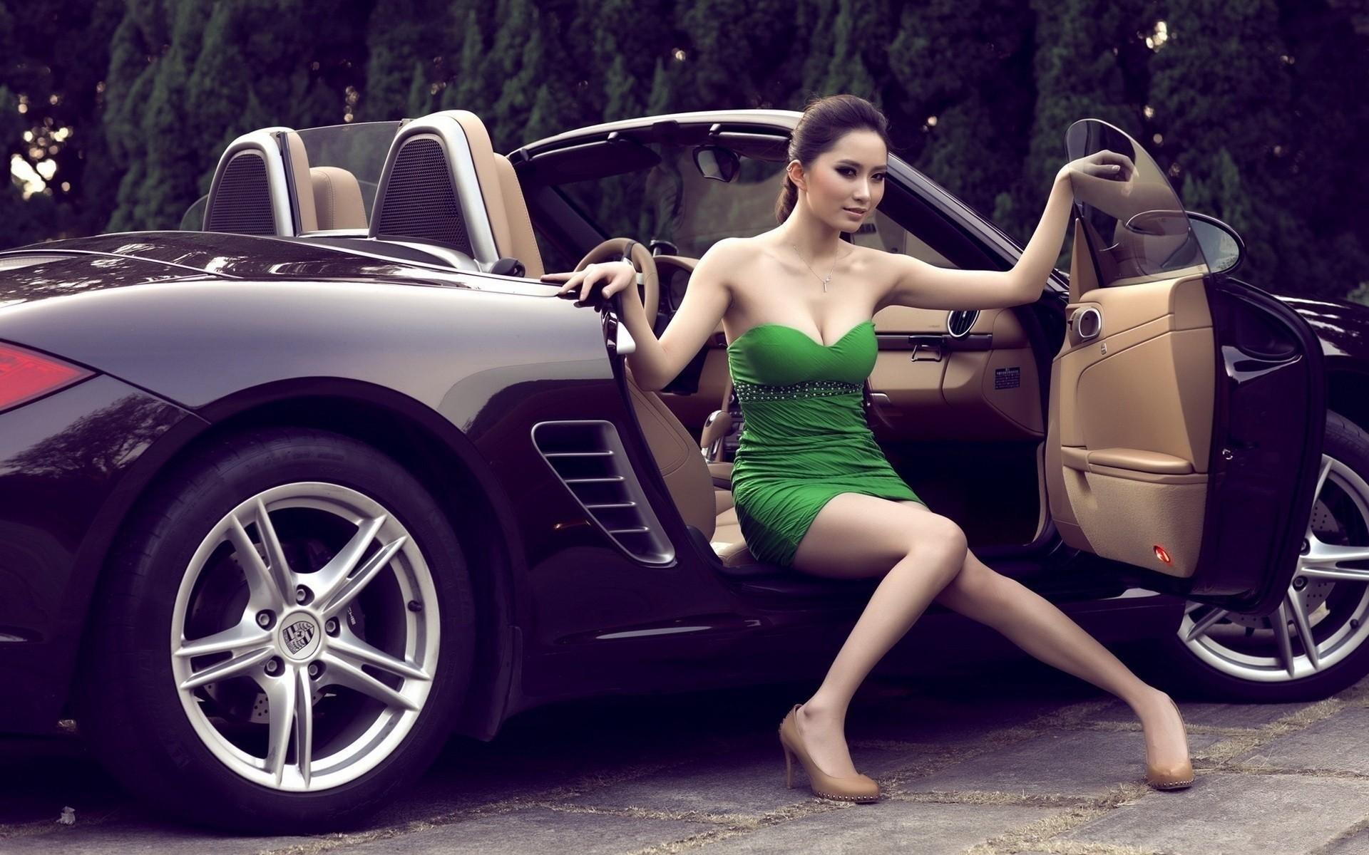 Car girl wallpaper hd